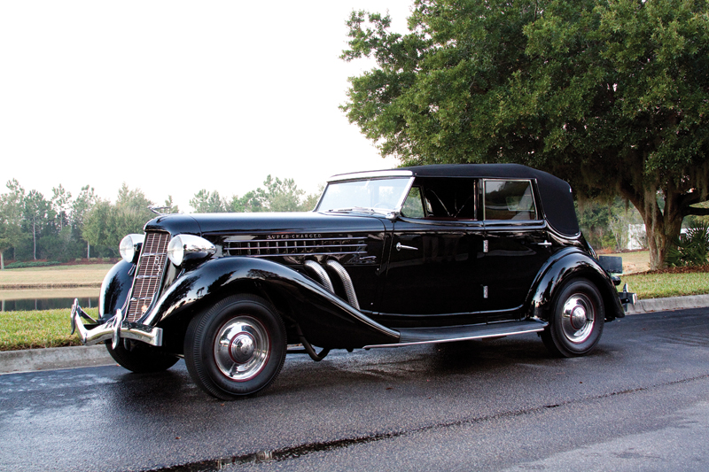 1936 Auburn 852 Supercharged Convertible Sedan
