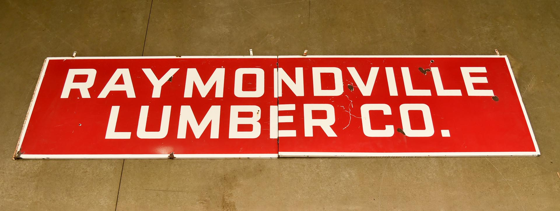 Raymondville Mo. Lumber Co Porcelain Sign