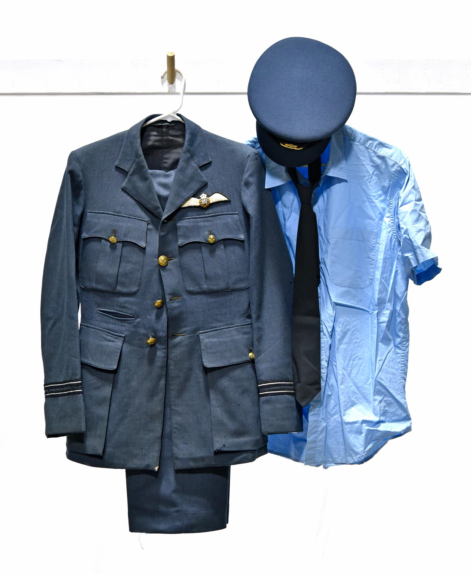 WWII British Royal Air Force Service Uniform Including Cap and Boots