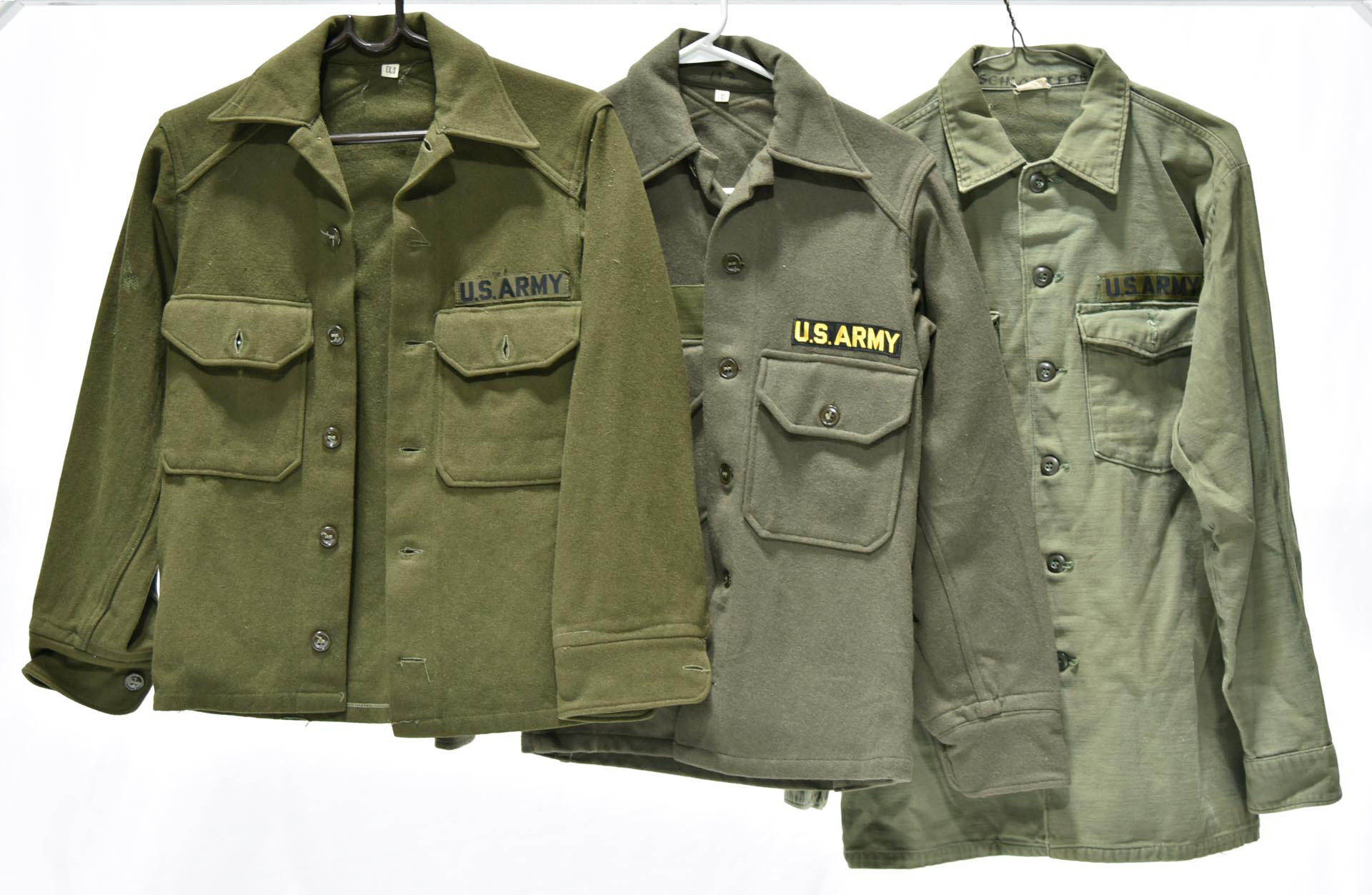 Vintage Original Cold War Military U.S. Army Collection of Service Shirts
