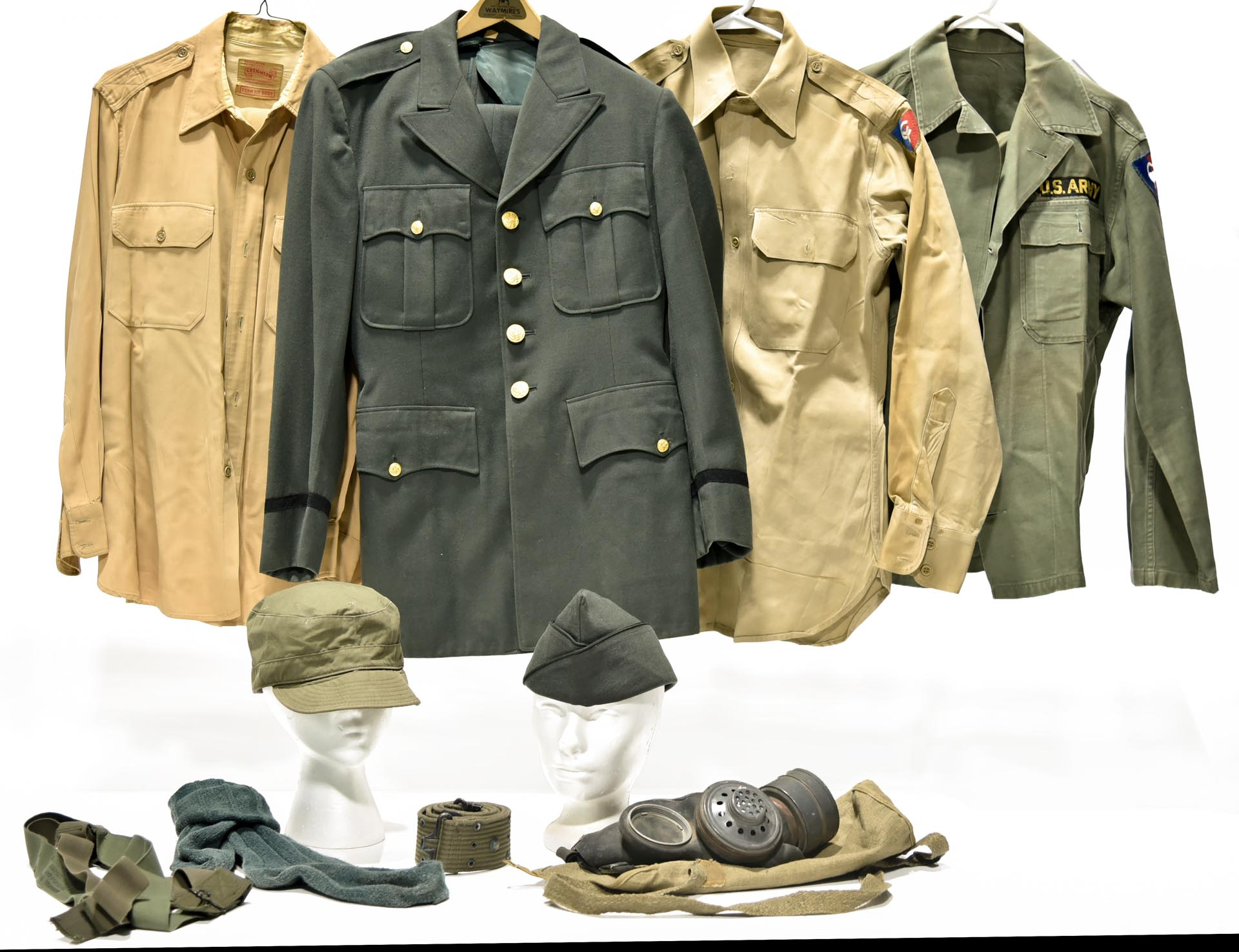 Lot Collection of WWII Service Uniforms and Accessories