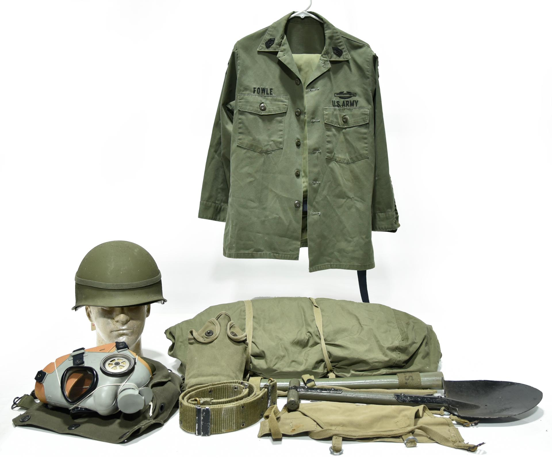 Collection Lot of Cold War U.S. Army Uniform, Helmet and Accessories