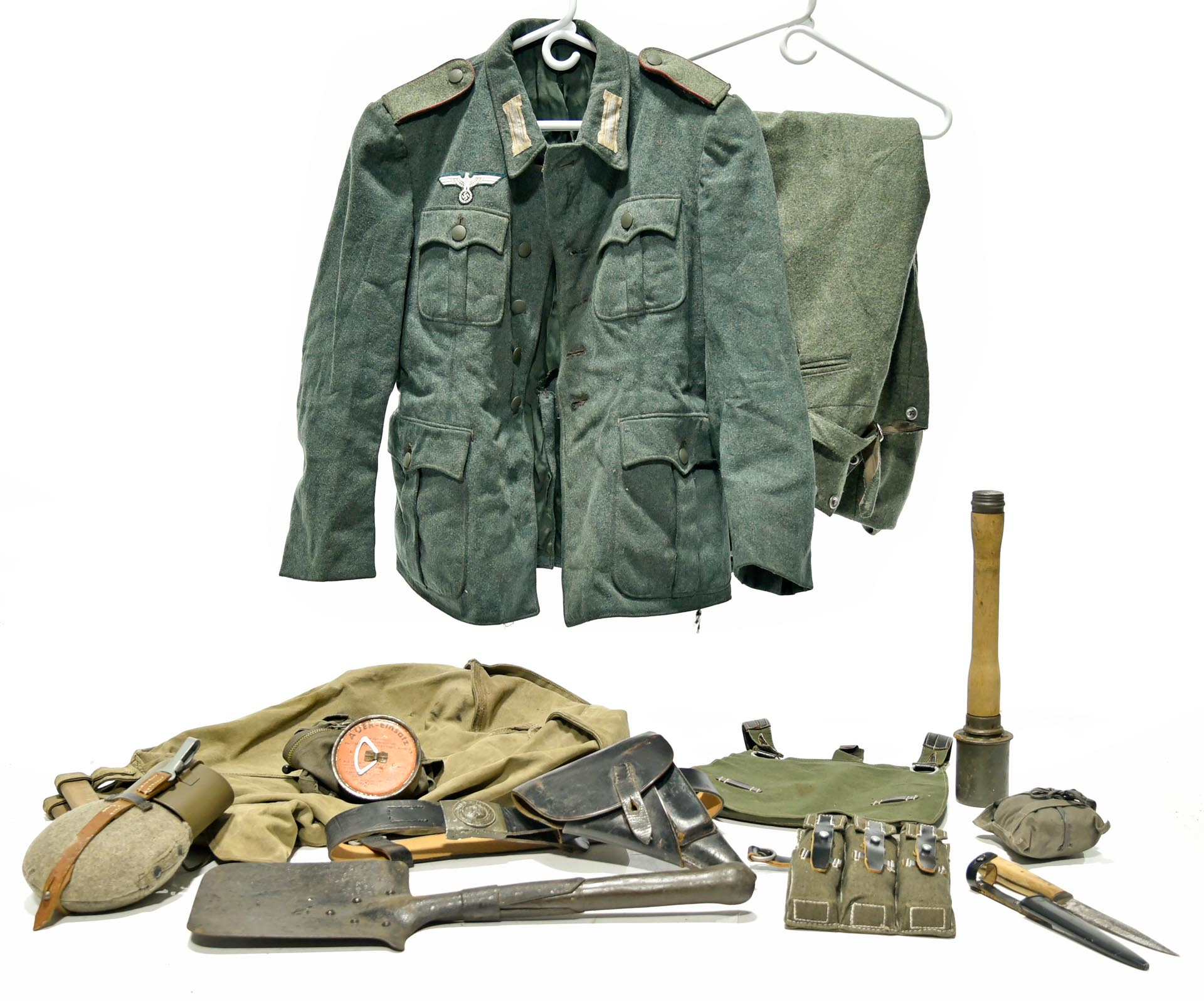 WWII German Uniform and Field Kit