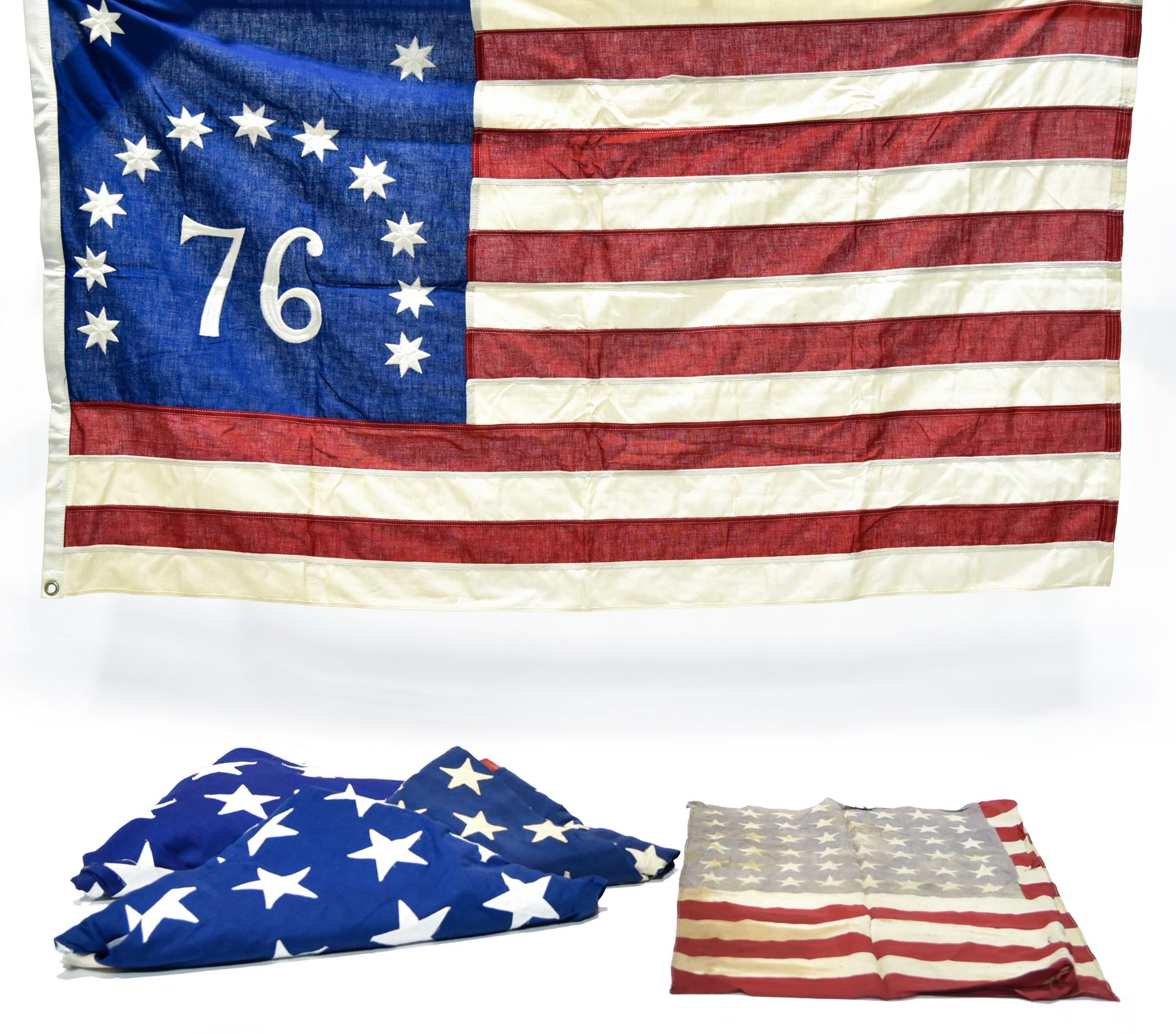 U.S. National Flags of Various Vintages