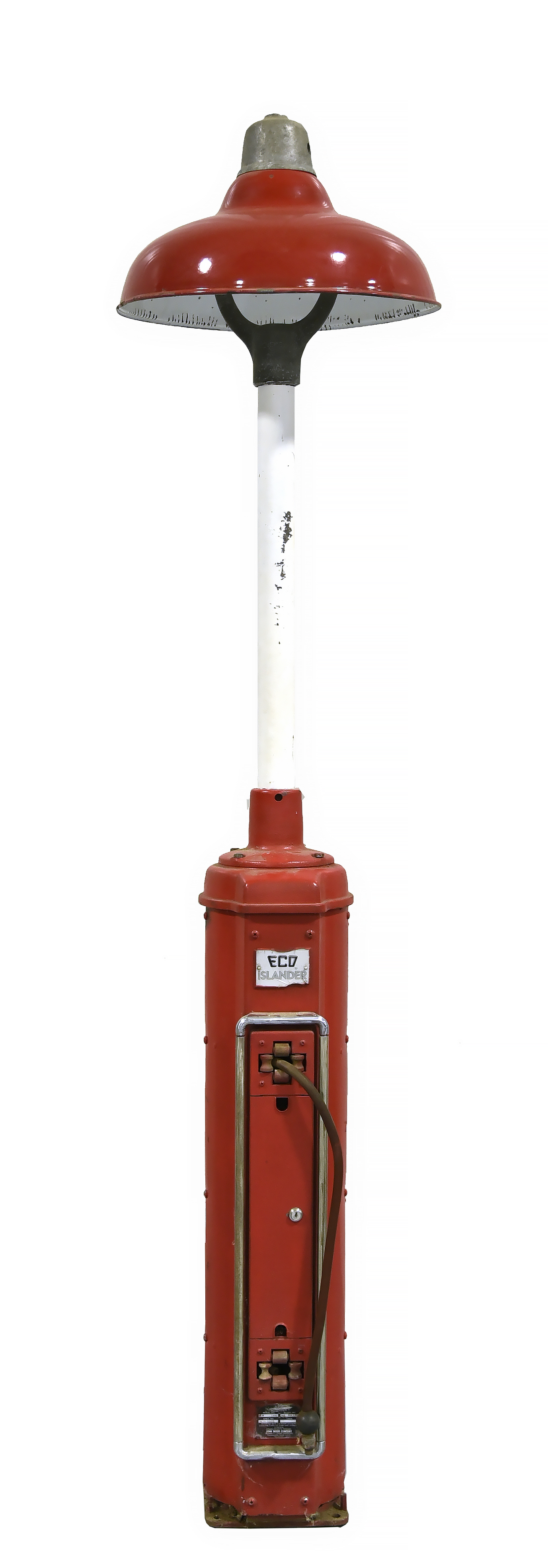 Eco Islander Gas Station Air Meter with Porcelain Light