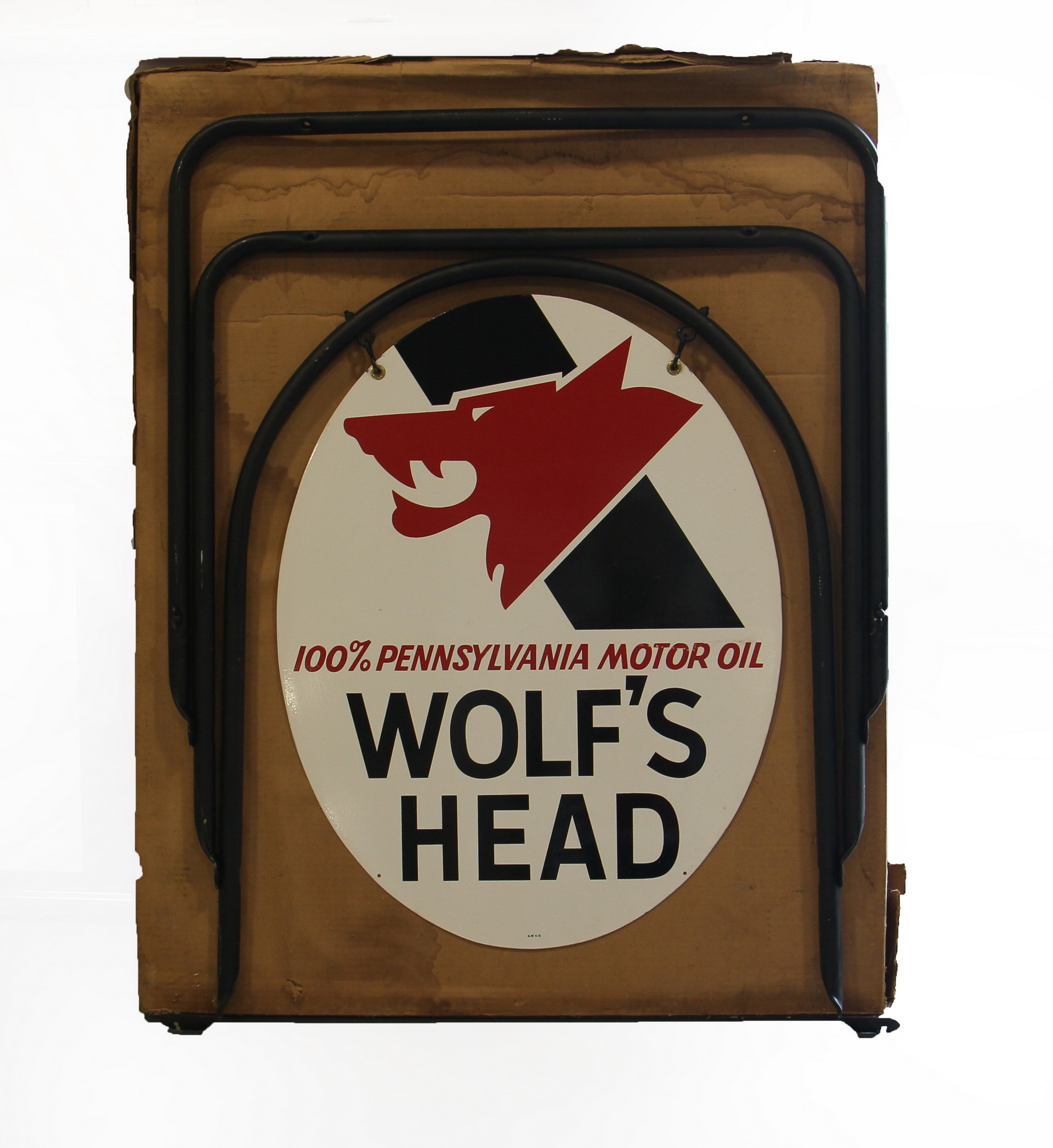 Wolf's Head DS Metal Curb Sign in Original Box
