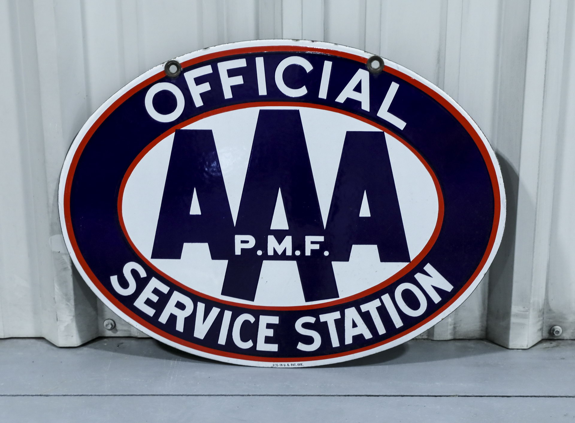 OFFICIAL AAA Service Station DS Porcelain Sign