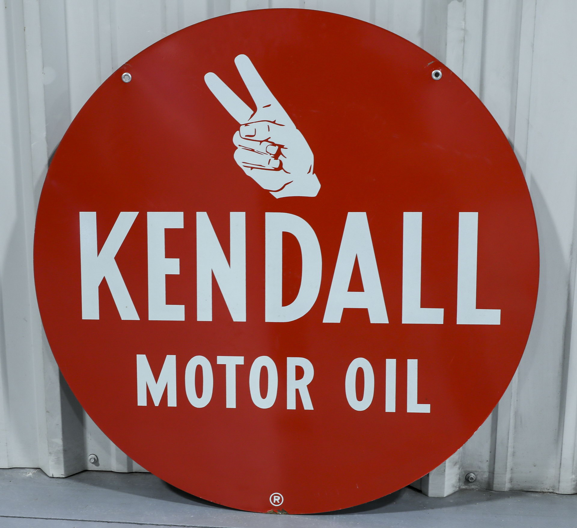 Kendall Motor Oil DS Metal Advertising Sign