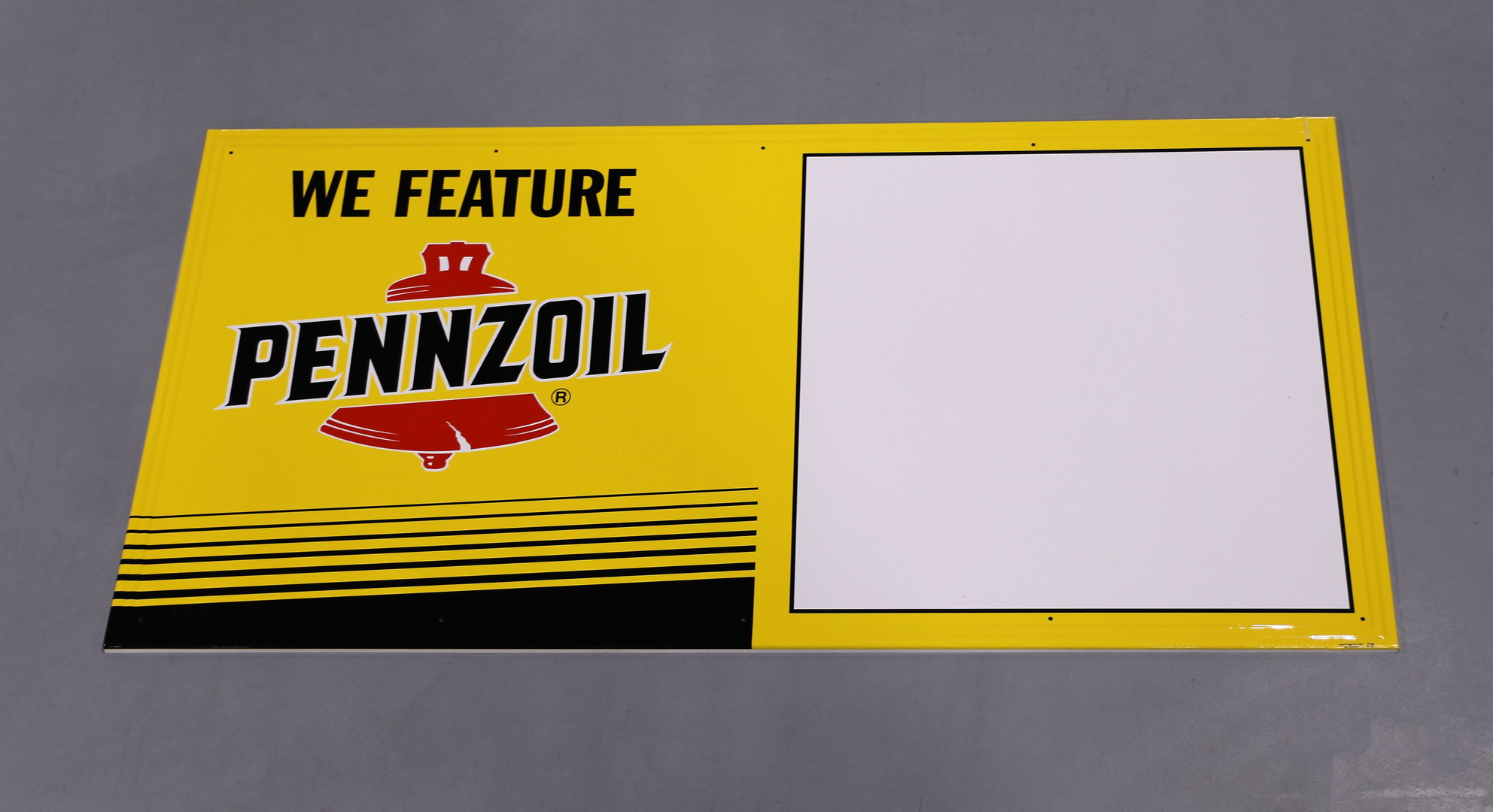 We Feature PENNZOIL Motor Oil NOS Tin Sign