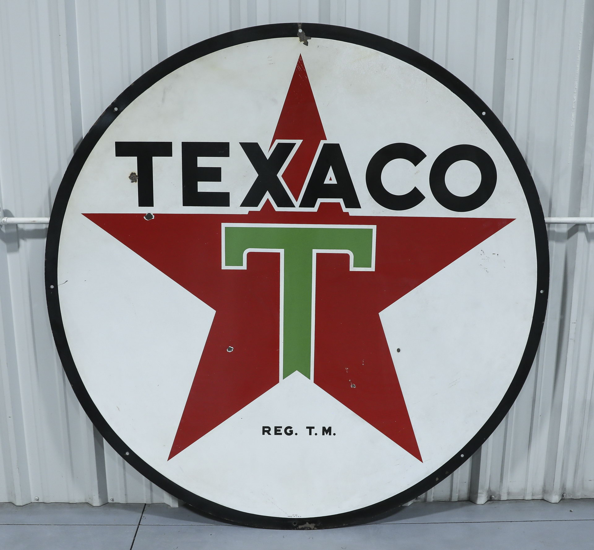 Texaco DSP Porcelain Gas Station Sign