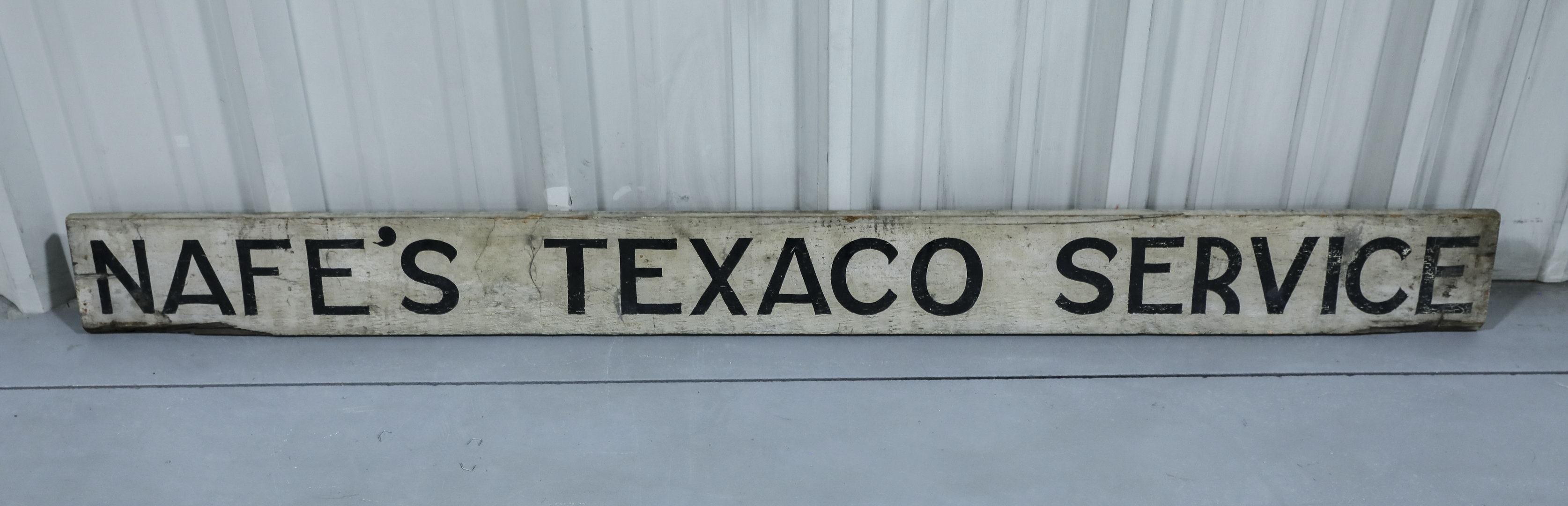 Nafe's Texaco Service DS Painted Wood Sign