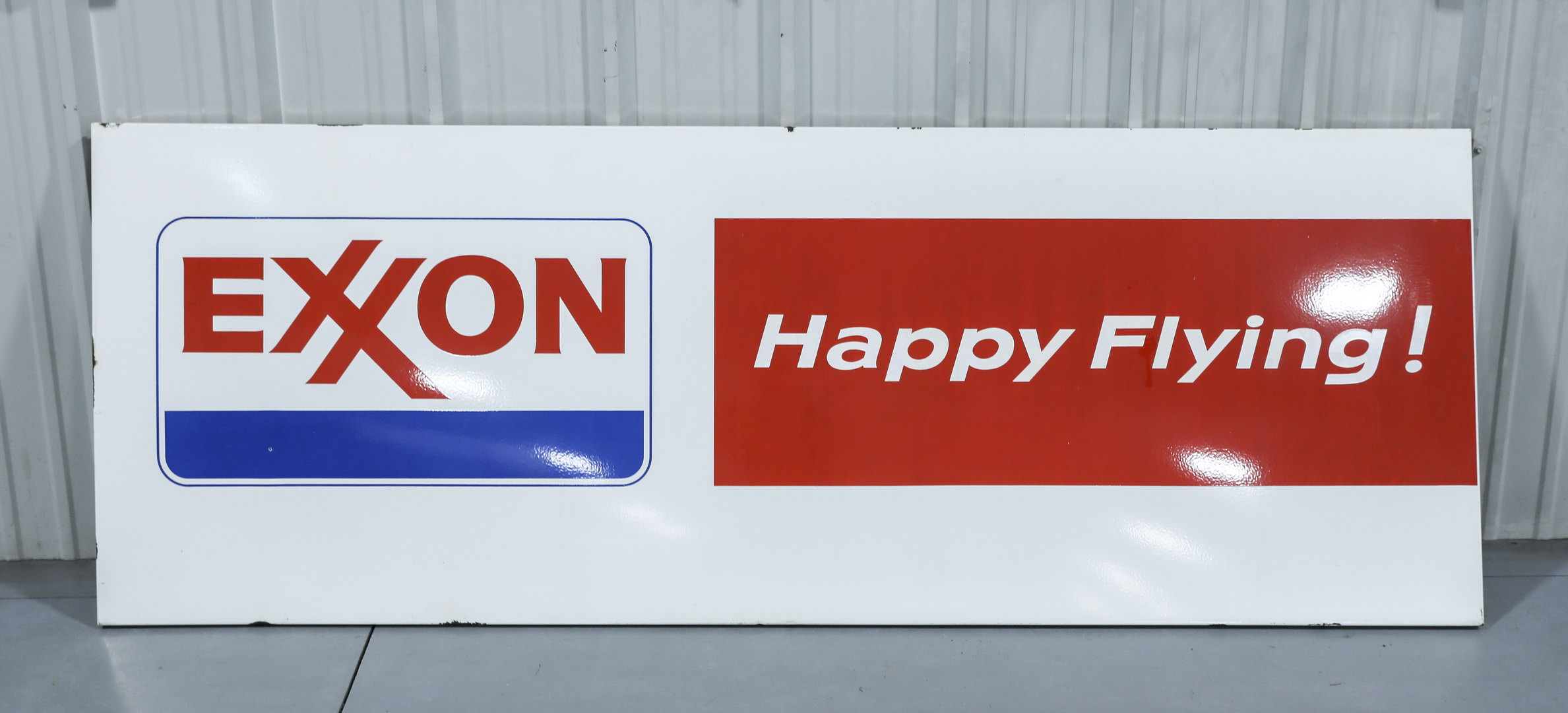 Exxon Happy Flying Porcelain Aviation Airplane Sign
