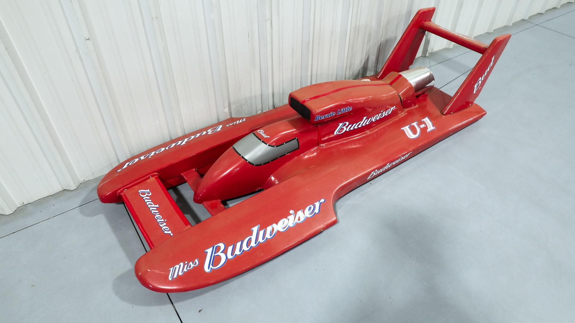 Miss Budweiser Beer Plastic Advertising Diplay Race Boat Sign