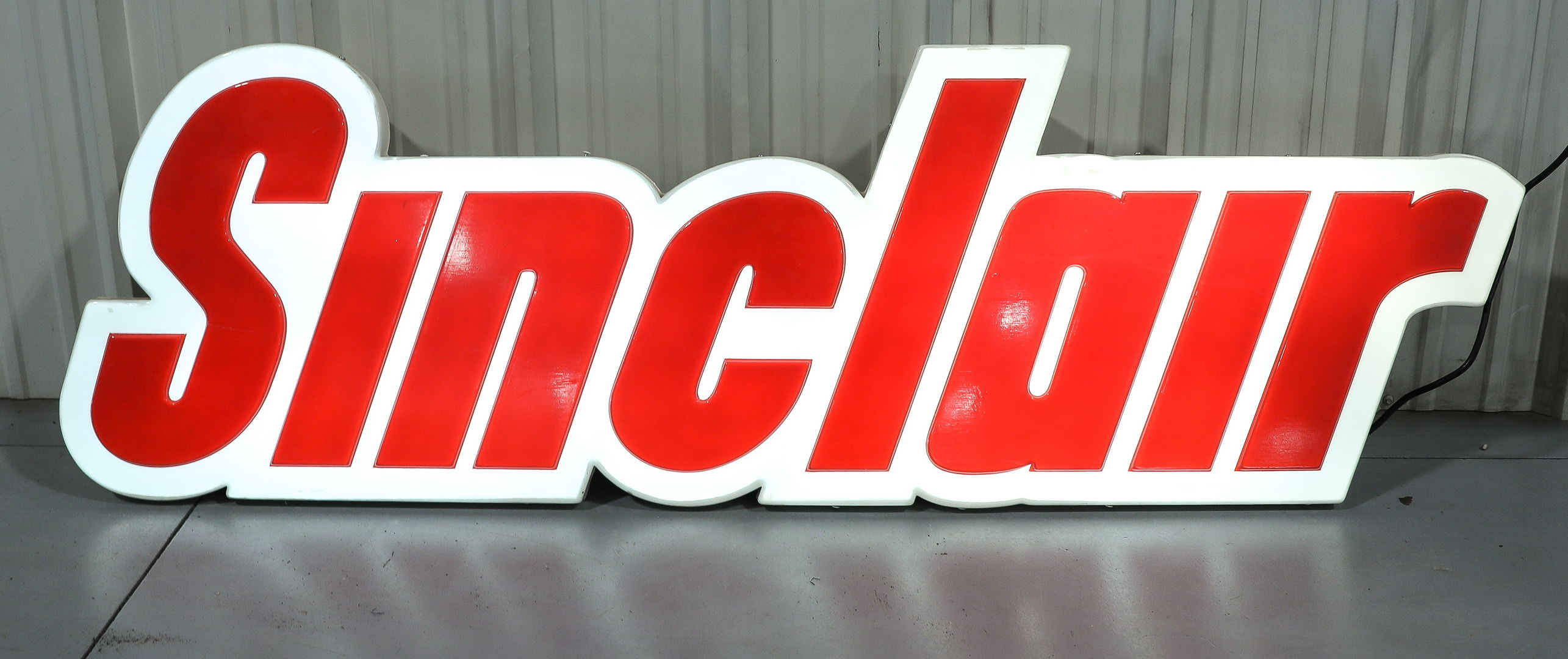 Sinclair Cloud Plastic Lighted Gas Station Sign