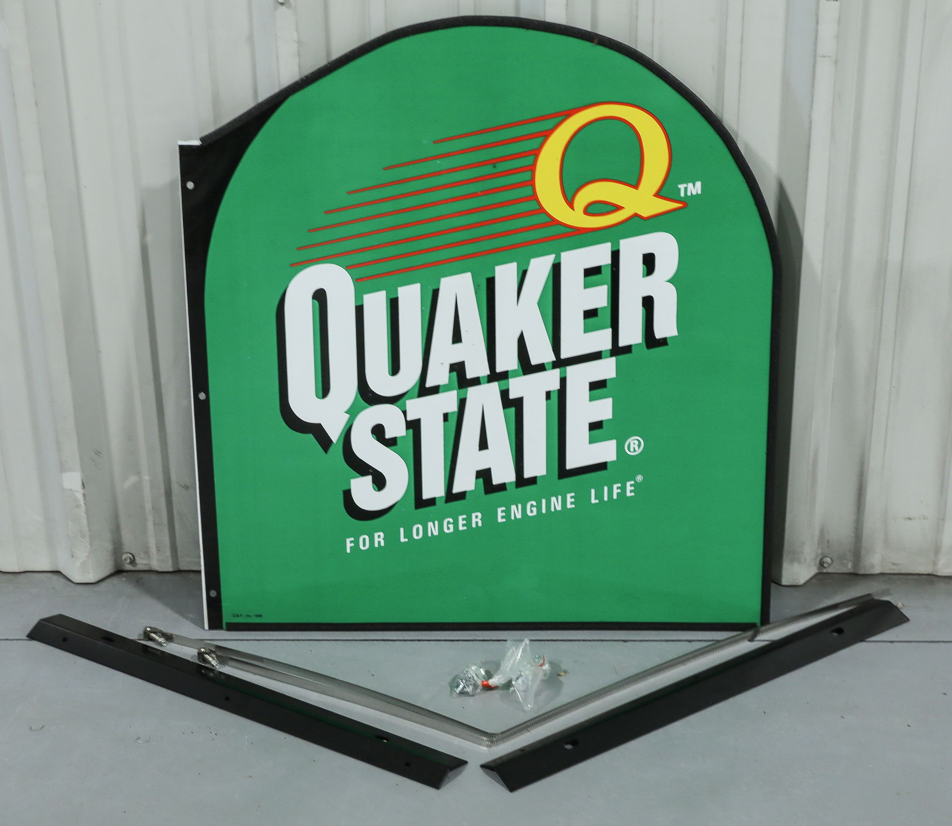 Plastic Quaker State DS Gas Station Pole Sign in Box NOS