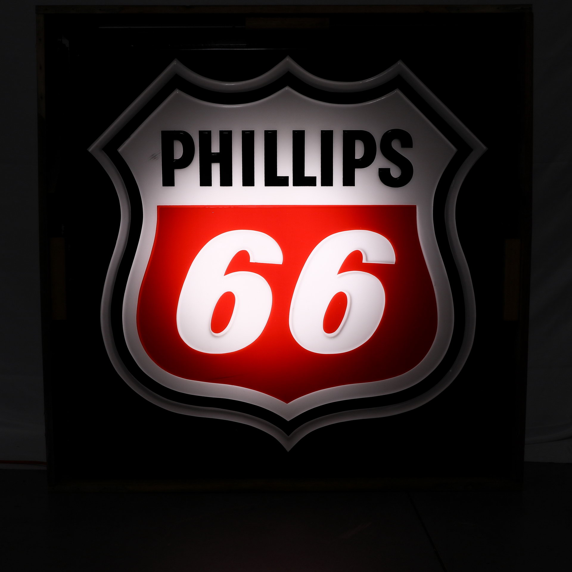 Phillips 66 Plastic Lighted Gas Station Can Sign