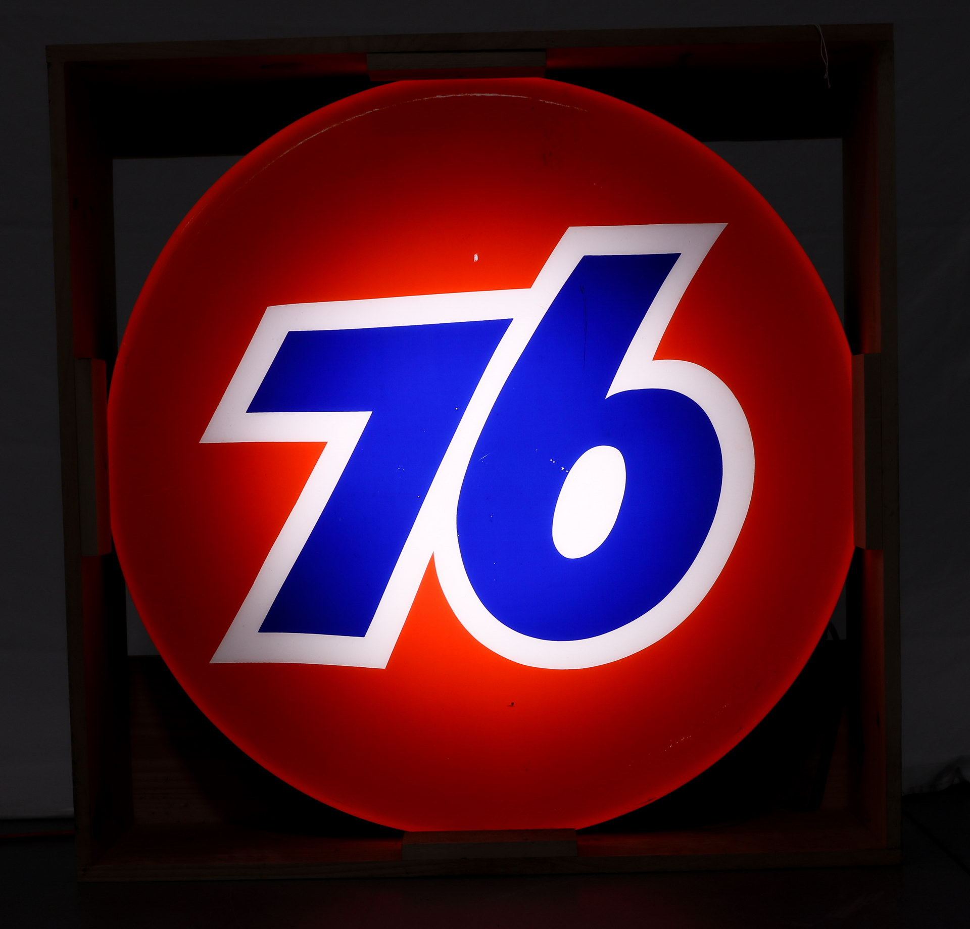 76 Lighted Plastic Gas Station Can Sign