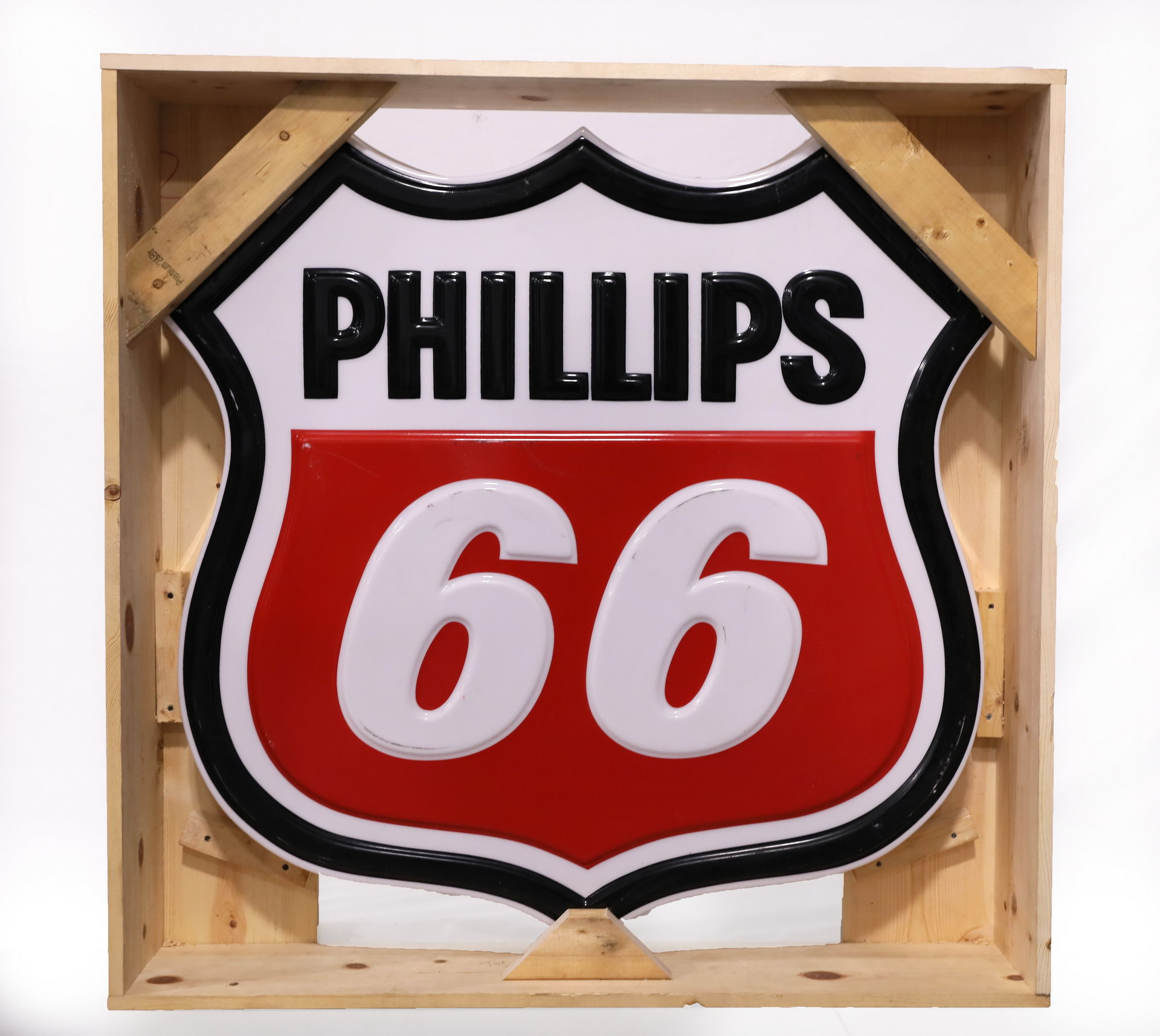 Phillips 66 Lighted Plastic Advertising Can Sign