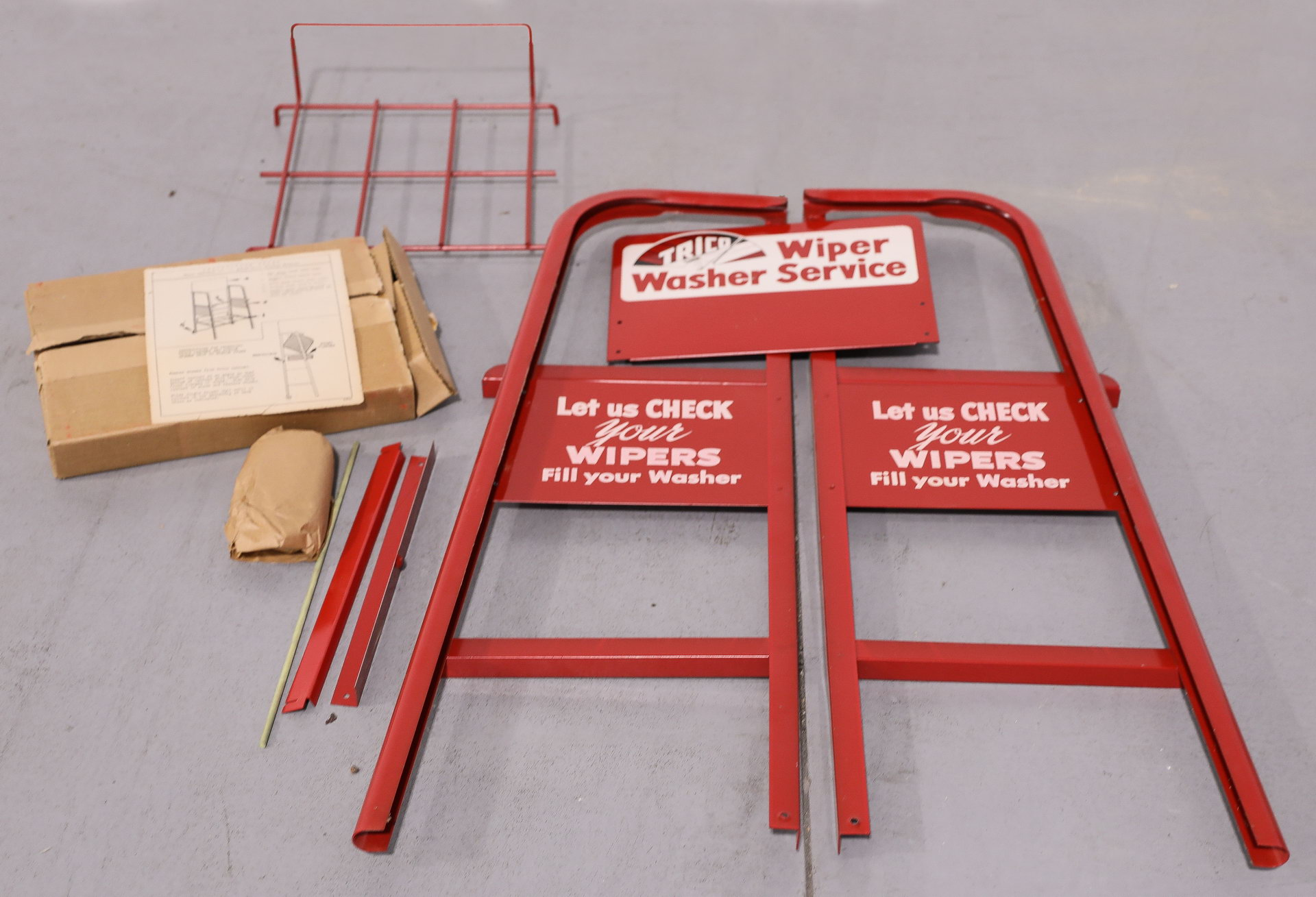 Trico NOS Wiper Washer Service Metal Display Rack Sign