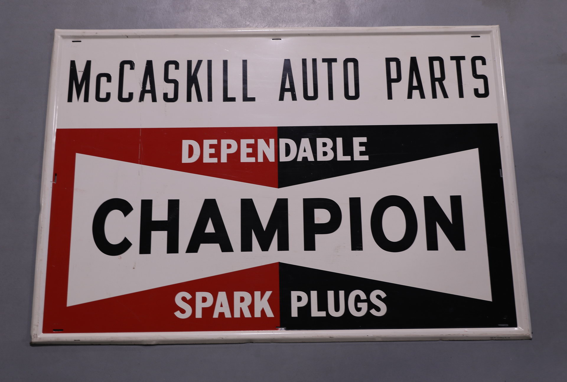 Champion Spark Plugs Metal Advertising Sign