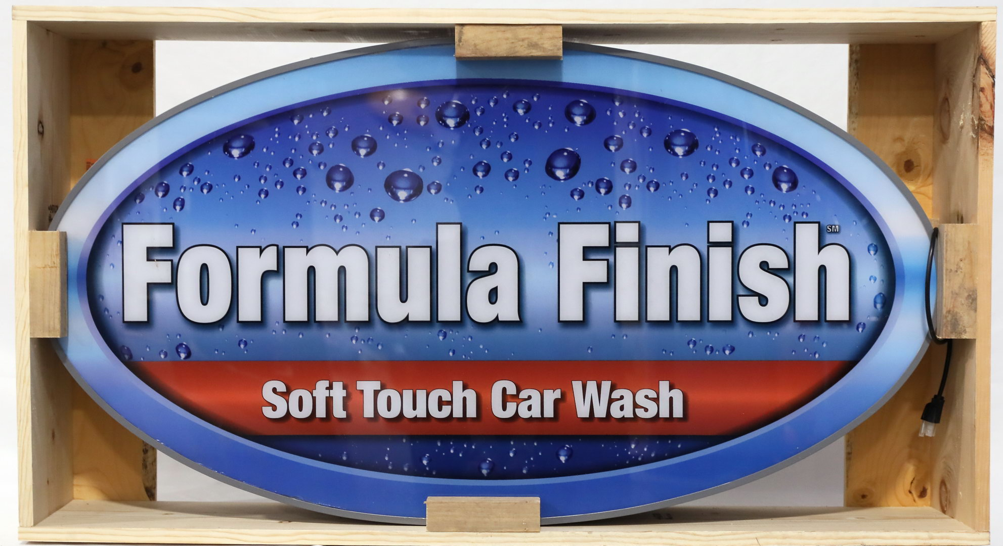Formula Finish Soft Touch Car Wash Lighted Plastic Can Sign