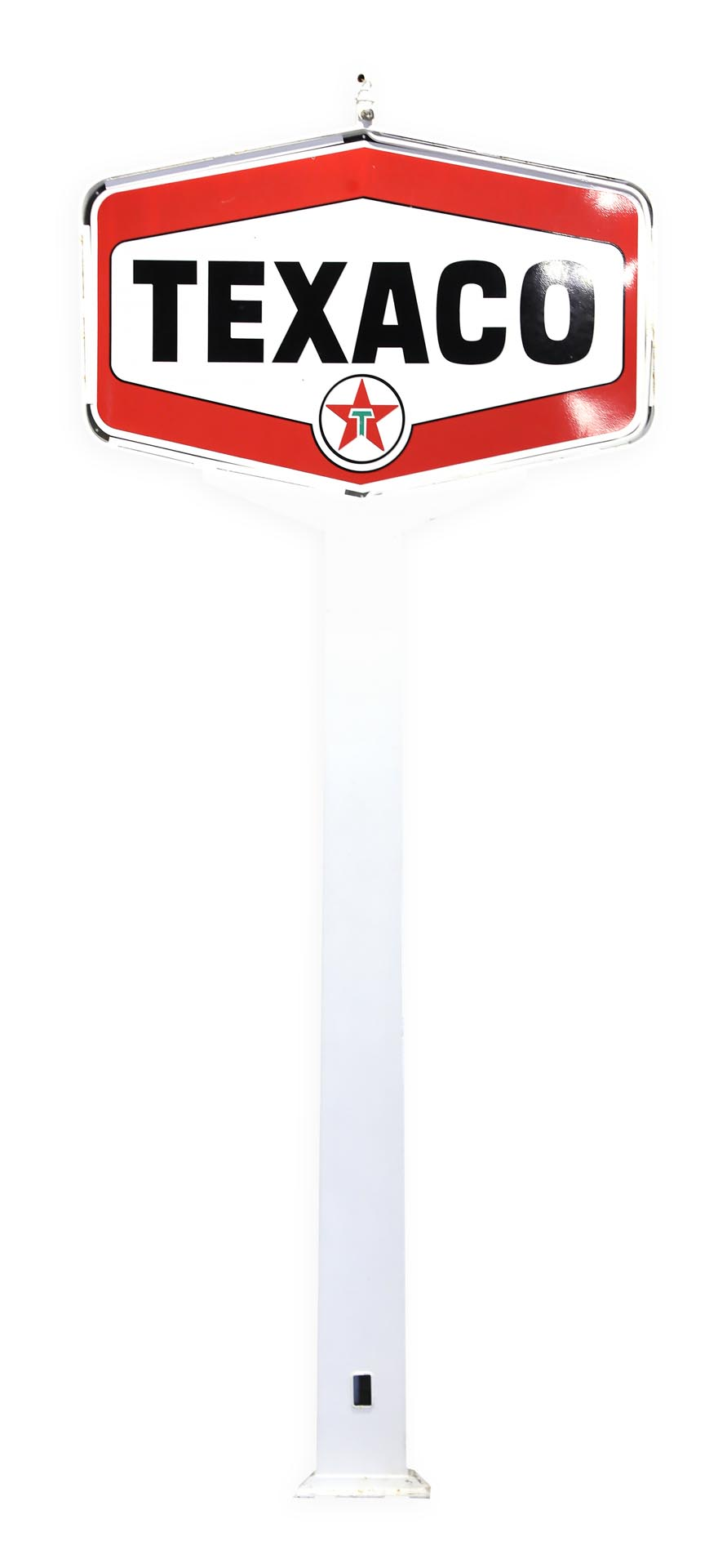 Texaco DSP Porcelain Gas Station Pole Sign - 17 ft.