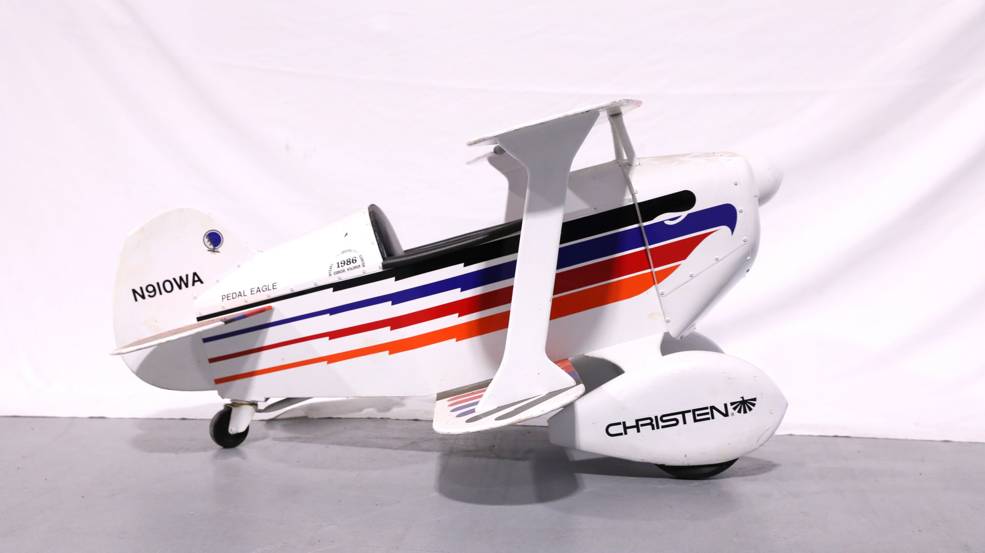 Christen Metal and Wood Toy Pedal Airplane