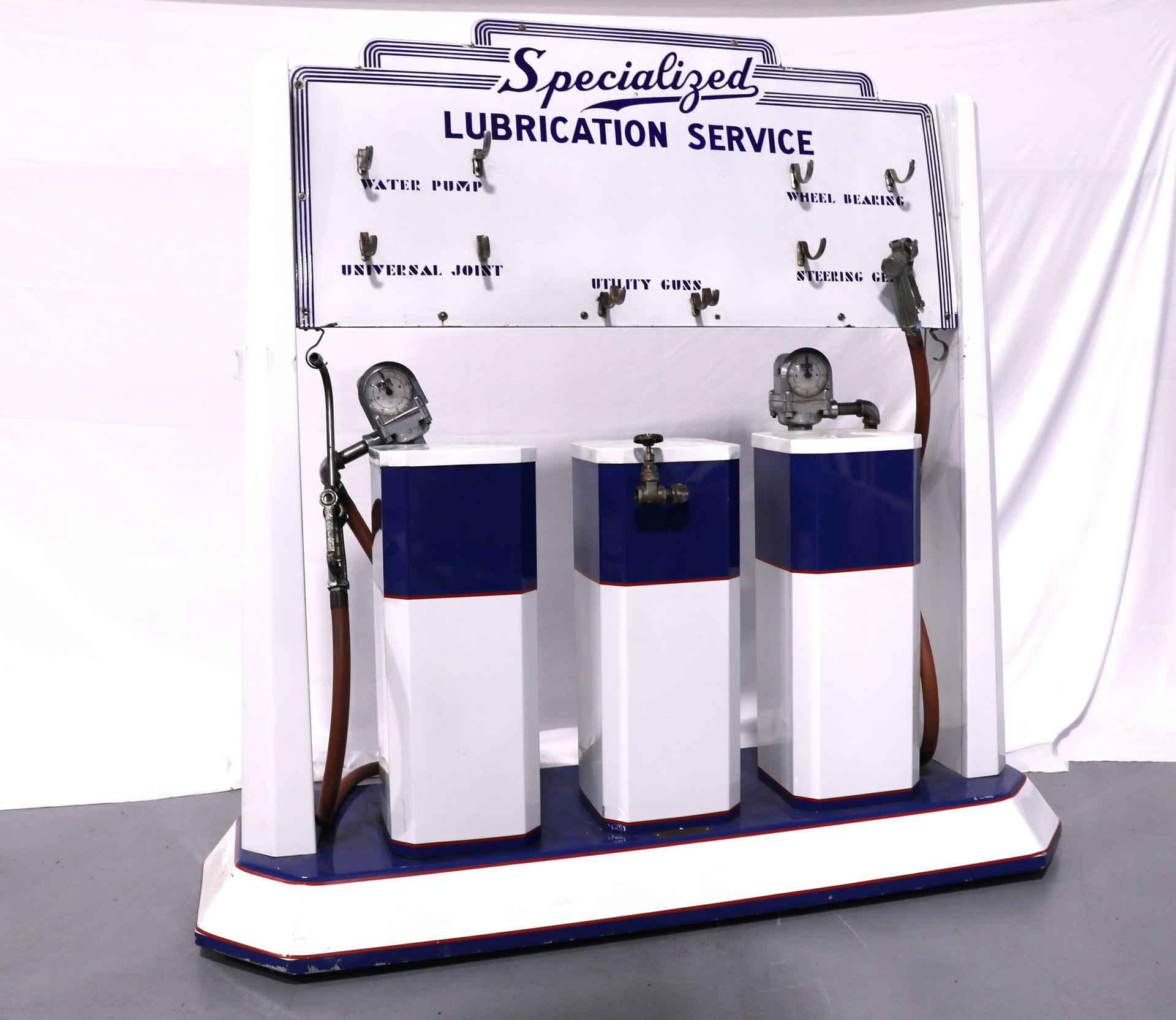 Specialized Lubrication Porcelain Service Cart Display Sign