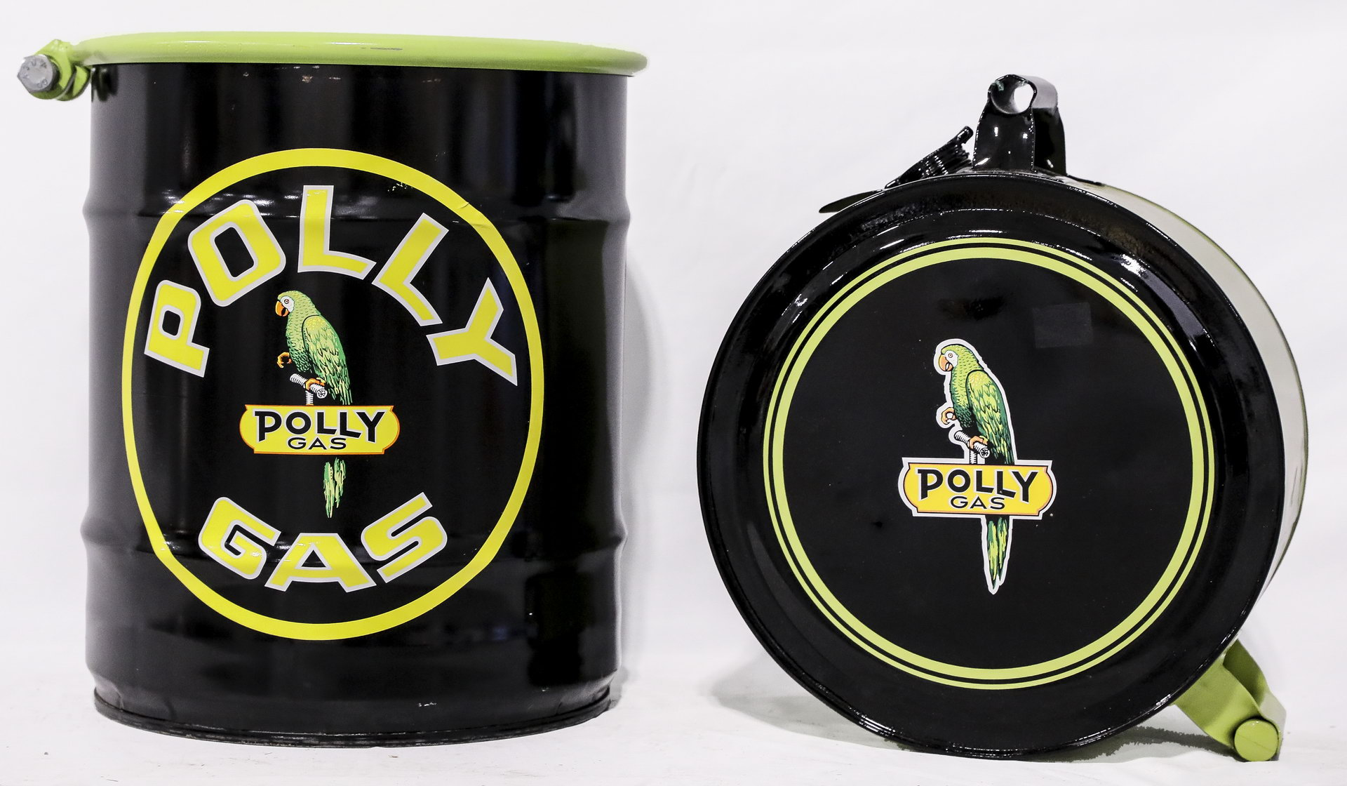 Lot of 2 Polly Gas Restored Oil Cans
