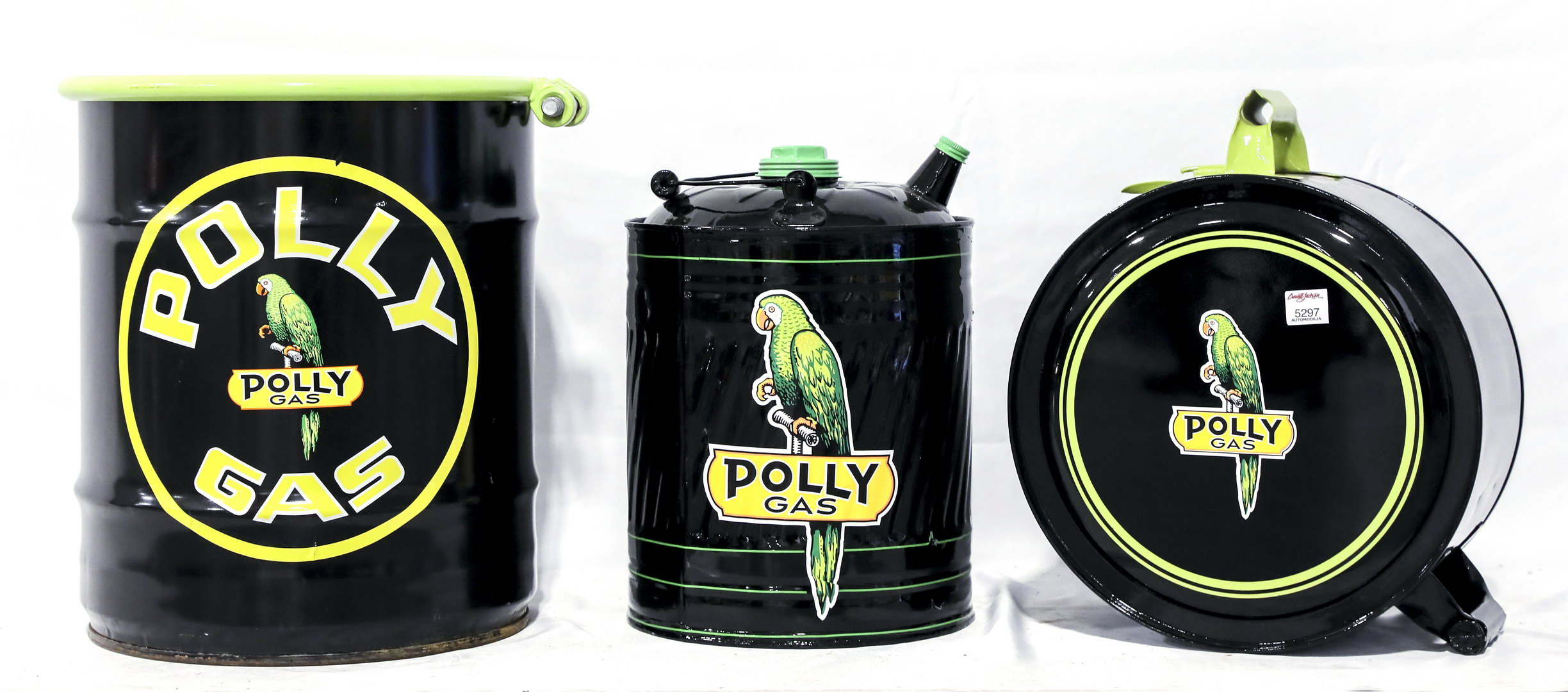 3 High Quality Restored Polly Gas Oil Cans