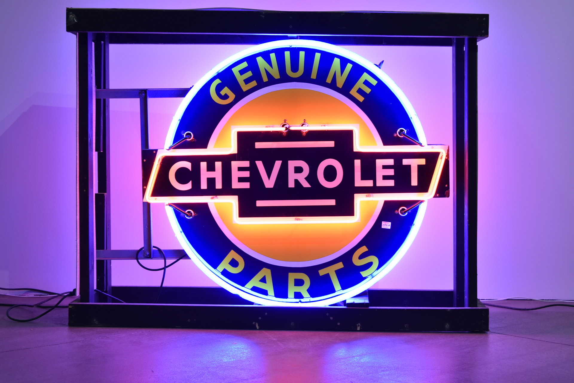 Incredible! Chevrolet Genuine Parts DSP Porcelain Neon Can Sign - Age Unknown