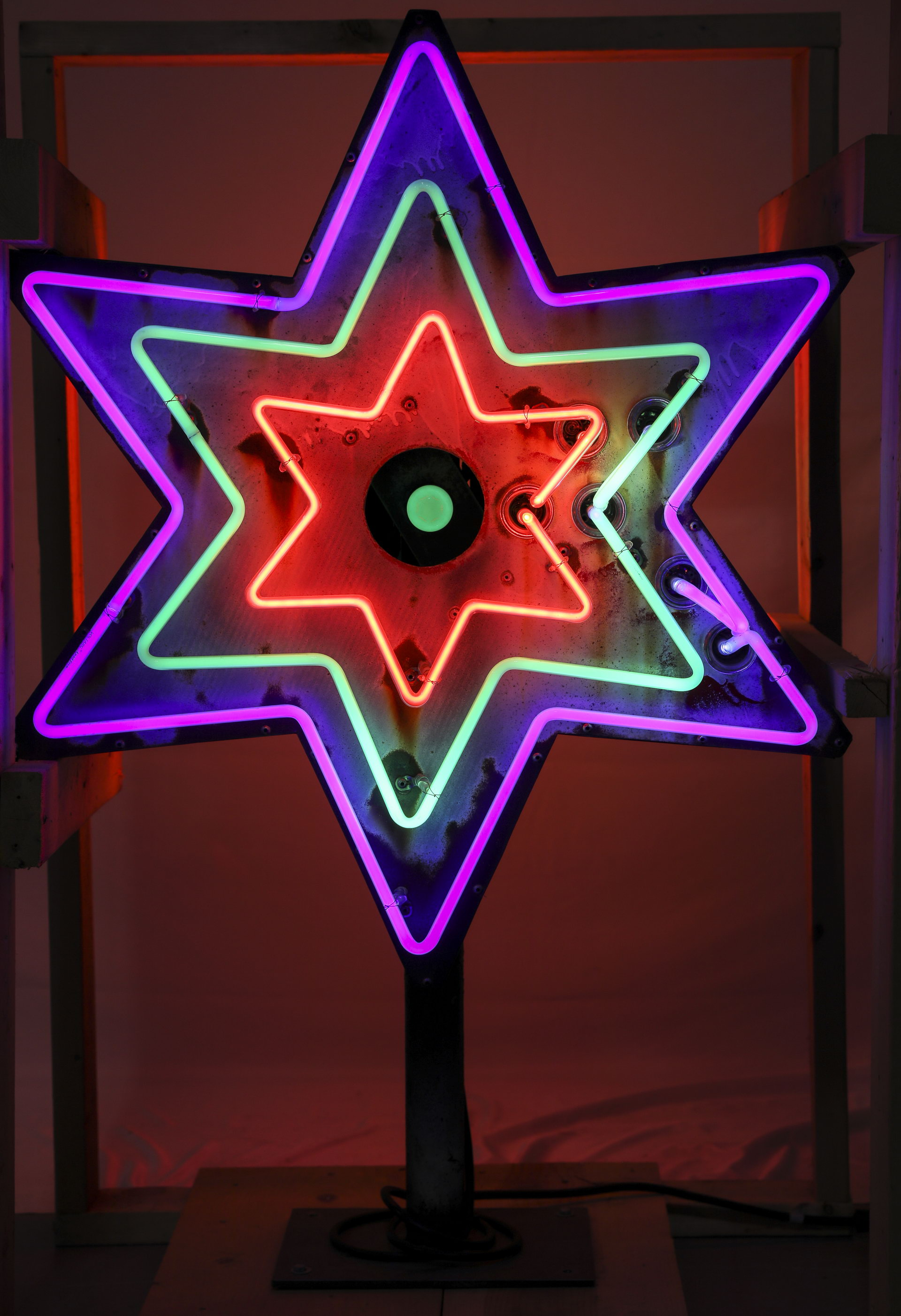 Lighted Neon DS Star Can Sign