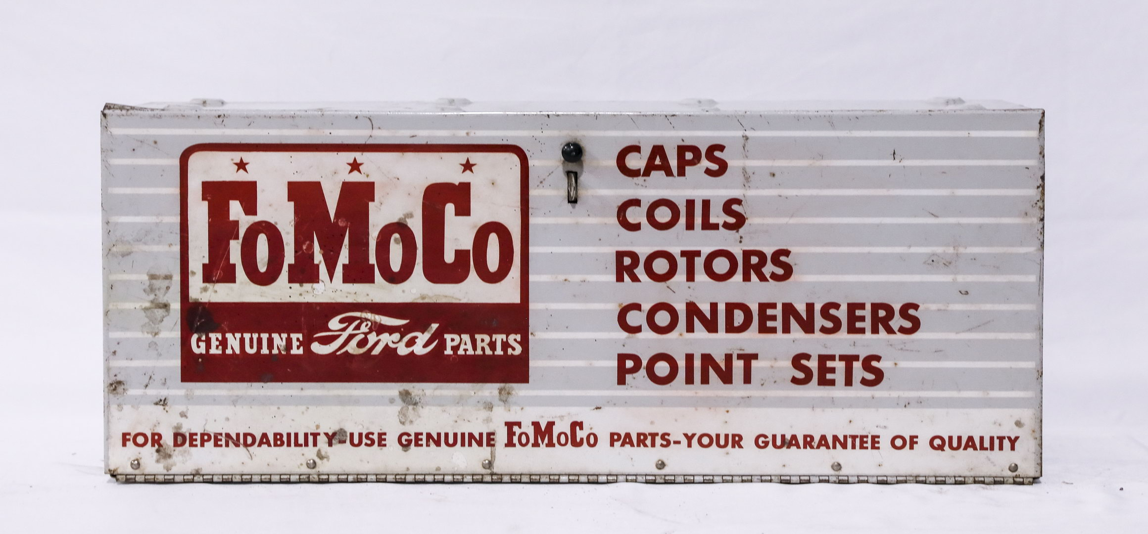 Ford Fo Mo Co Parts Display Metal Sign Display Cabinet