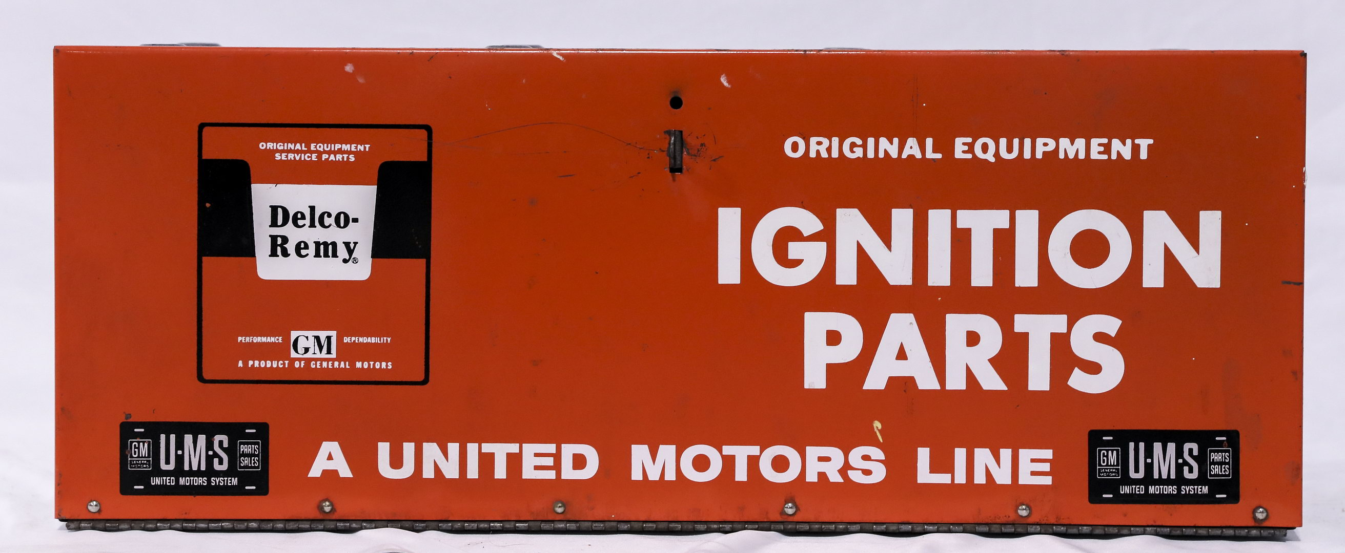 Delco Remy Ignition Parts Display Sign Metal Tin Cabinet