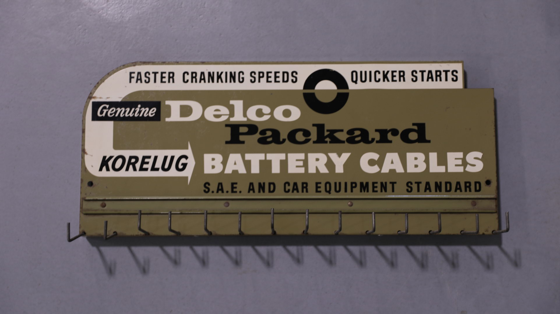 Delco Packard Battery Cable Display Sign