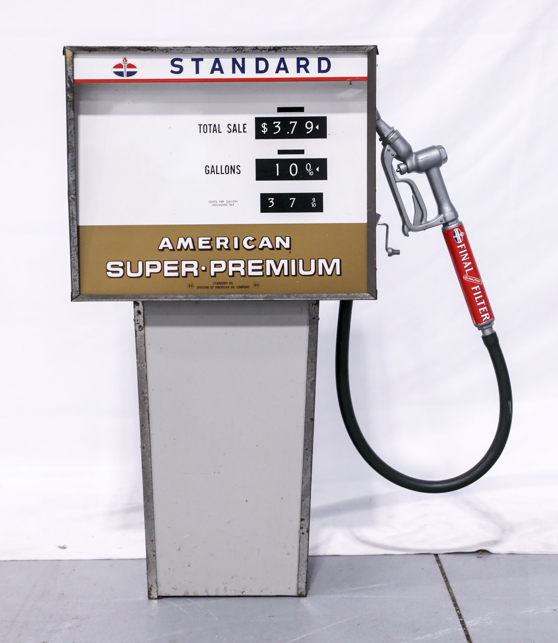 Standard Oil Child's Toy Pedal Car Scale Metal Tin Gas Pump