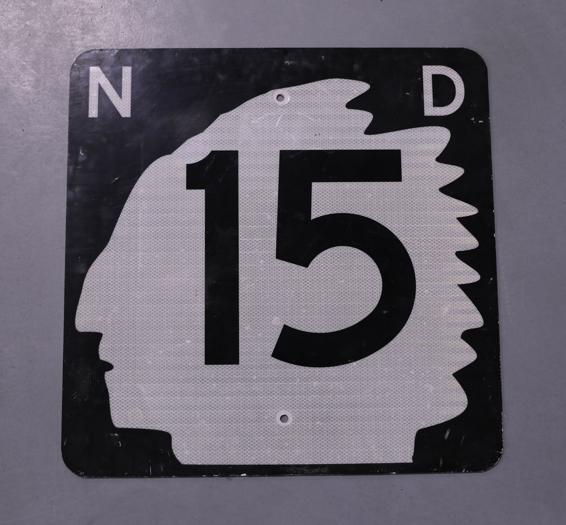 North Dakota Reflective Indian Road Sign Highway 15