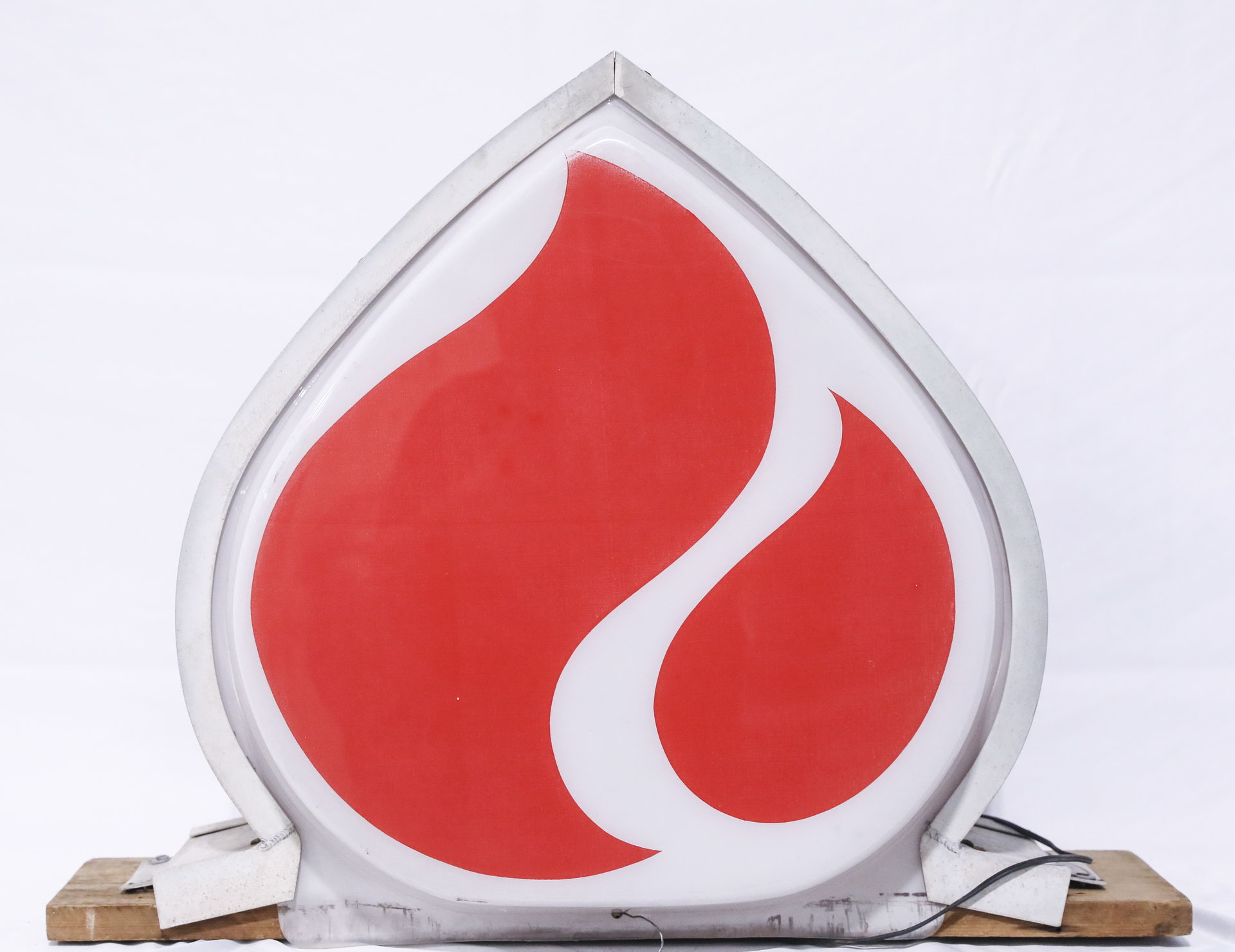 Standard Oil Flame DS Lighted Plastic Gas Station Sign
