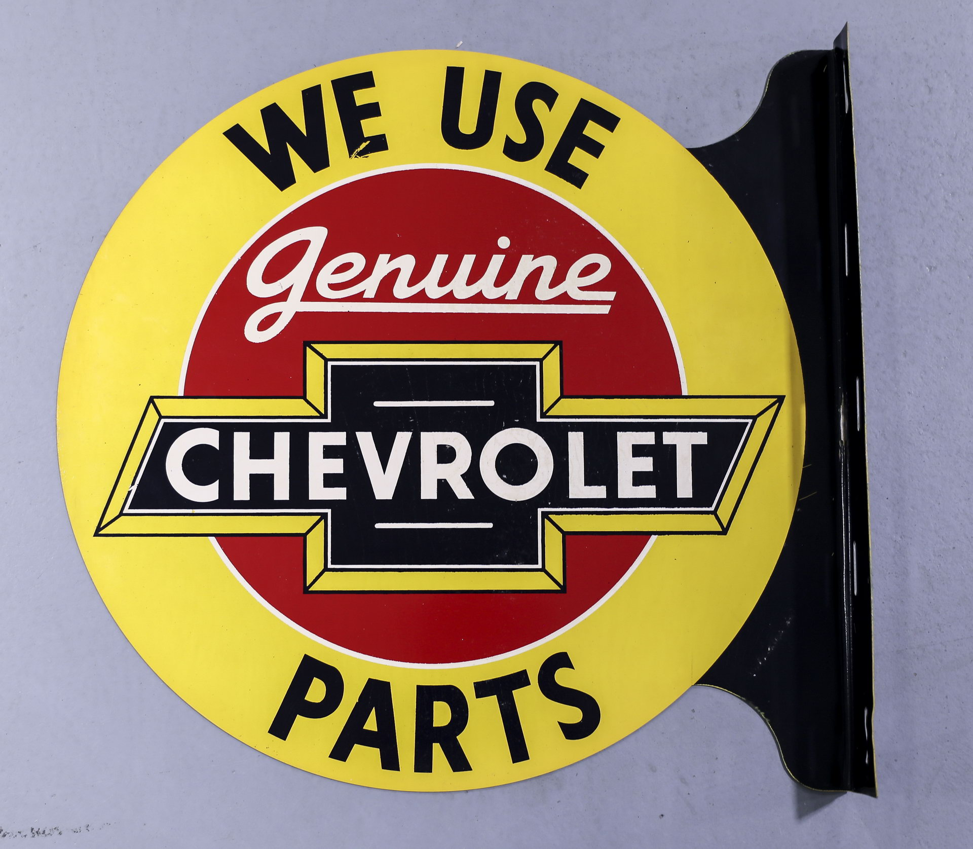 Chevrolet Genuine Parts DS Metal Flange Advertising Sign NOS with Box