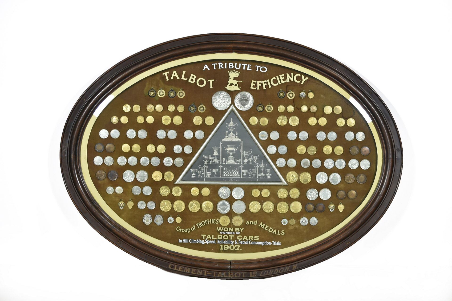 Amazing 1907 Trophies & Medals Won By Talbot Cars Plaque Sign from Talbot Boardroom