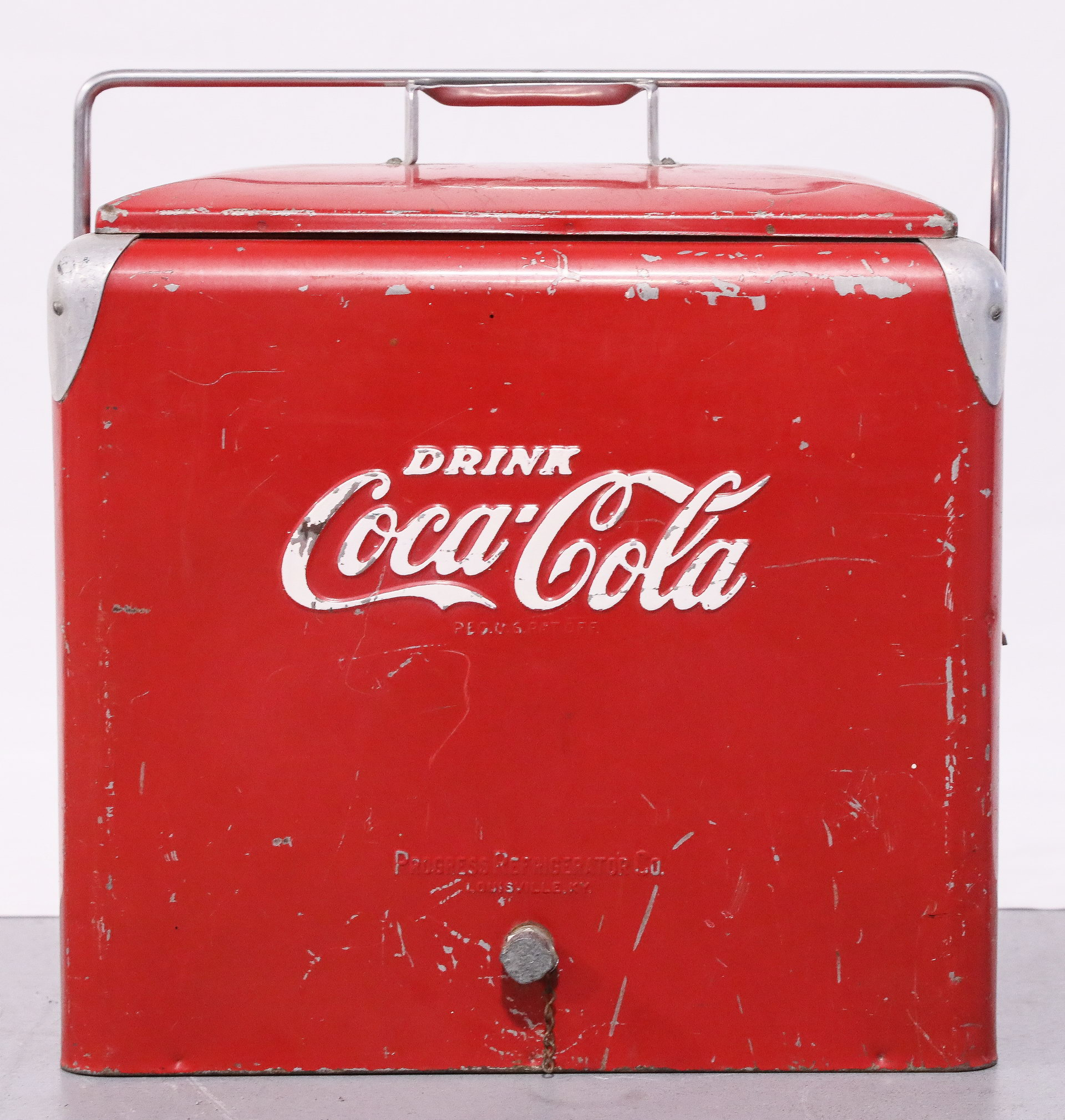 Drink Coca-Cola Soda Chest Cooler with Tray