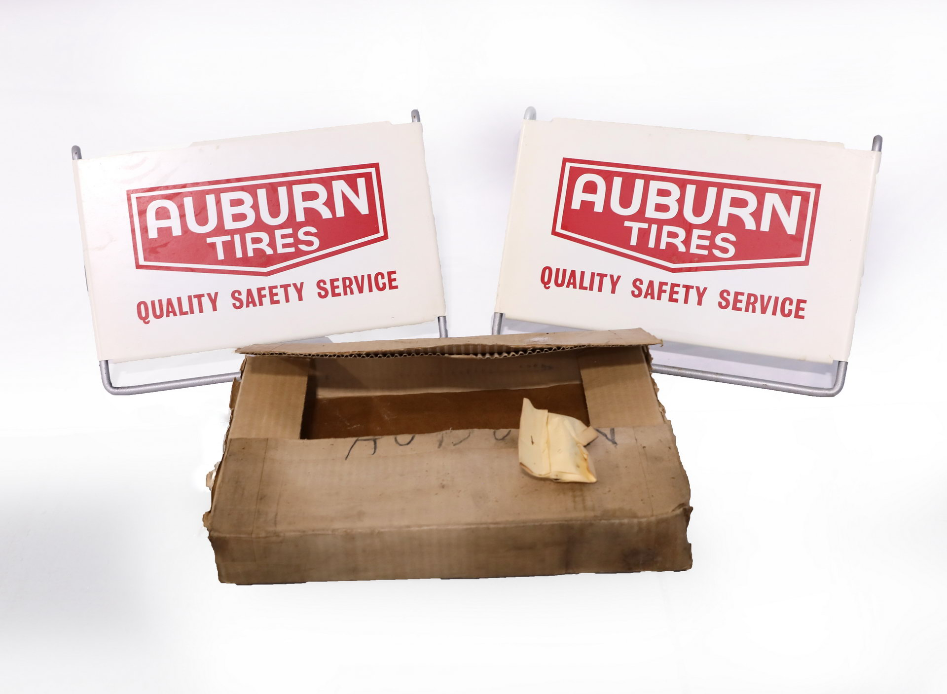 NOS Heavy Duty AUBURN Tires DS Display Rack Display Sign with Box