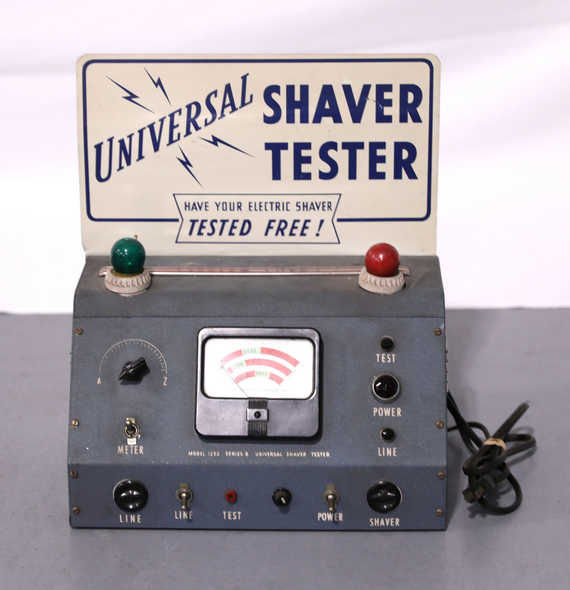 Barber Shop Universal Electric Shaver Tester with Top Sign