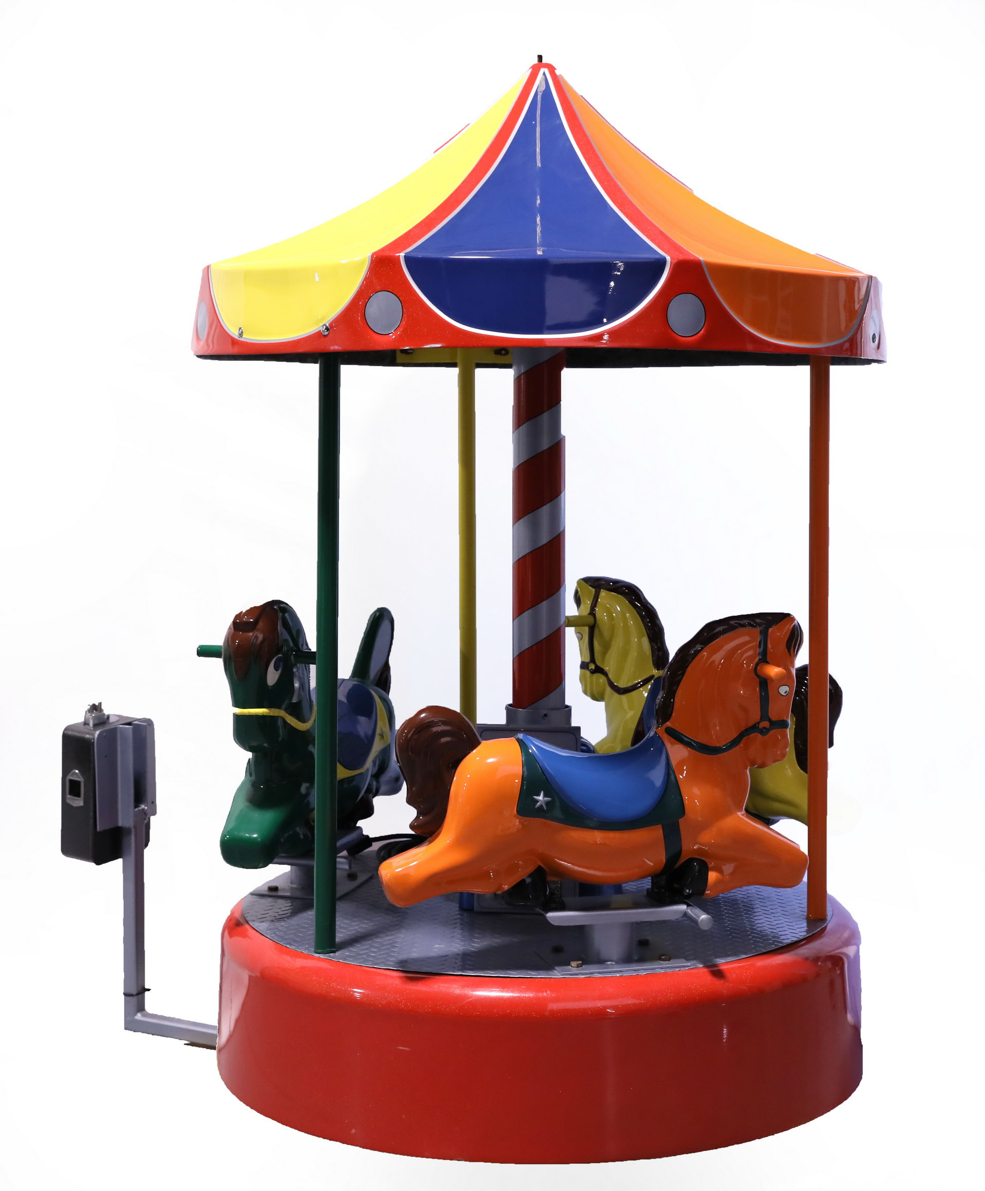 Coin-Operated Ride On Merry-Go-Round Carousel