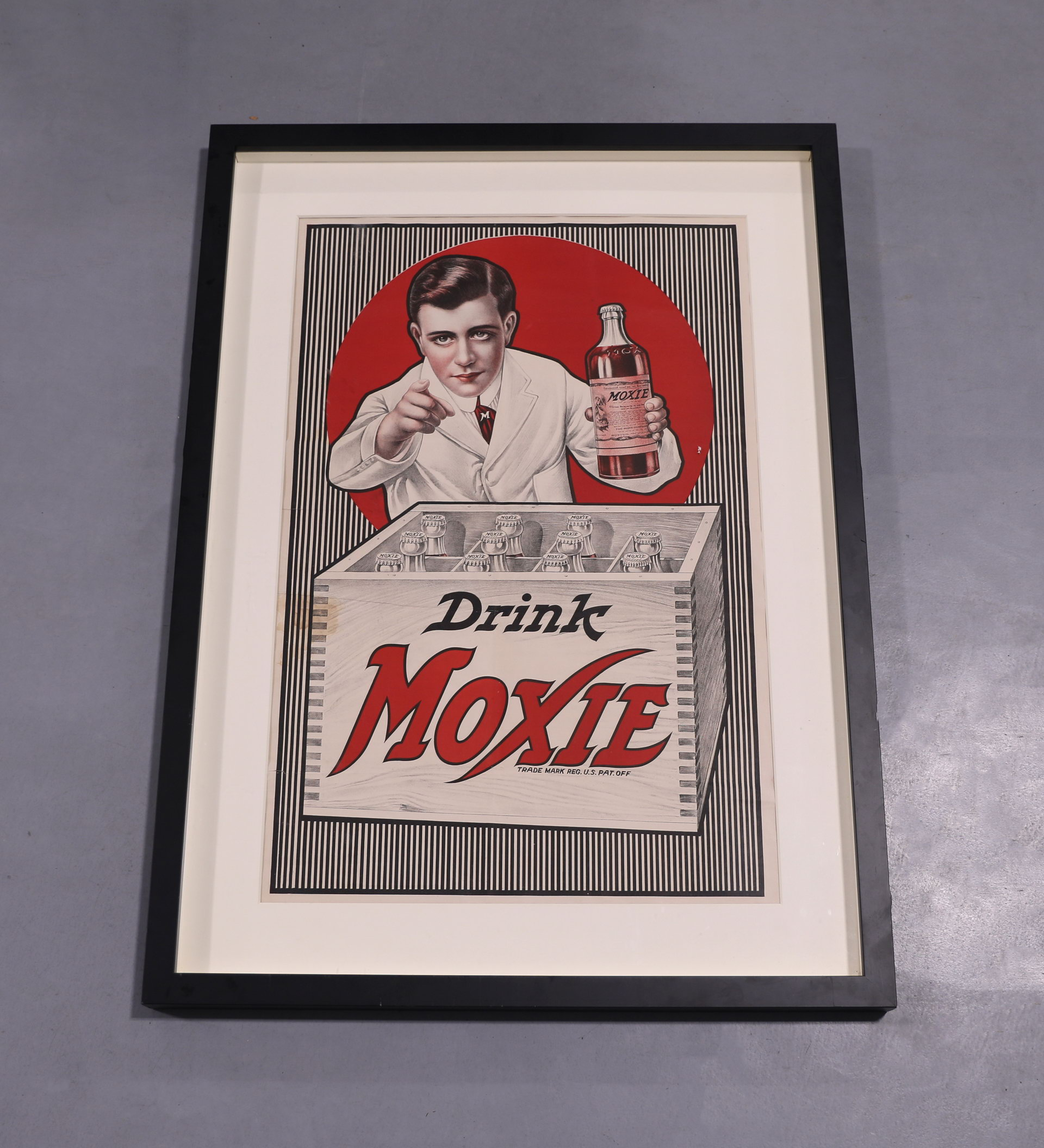Large Early Drink Moxie Framed Poster Sign