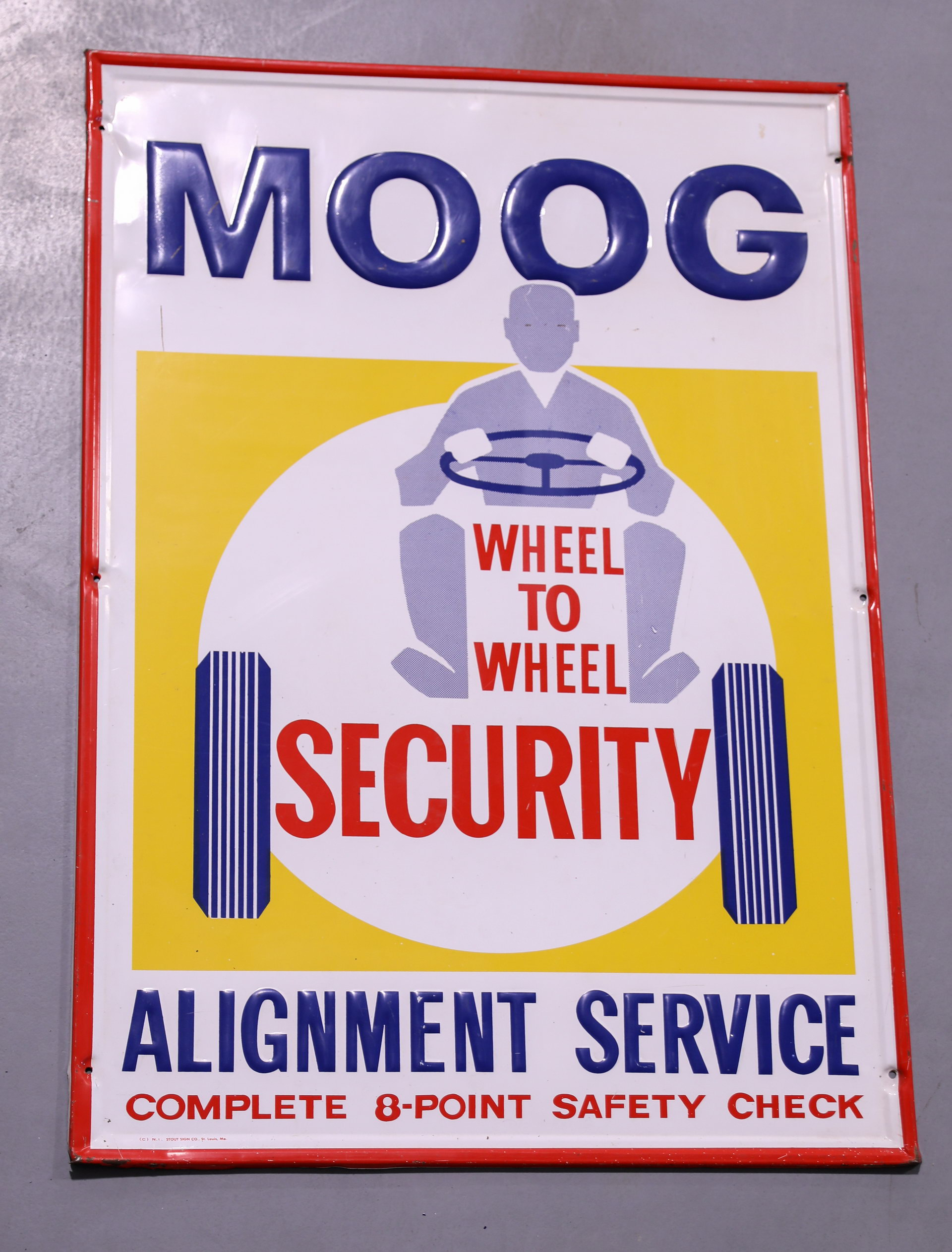 MOOG Automobile Alignment Service Embossed Tin Sign