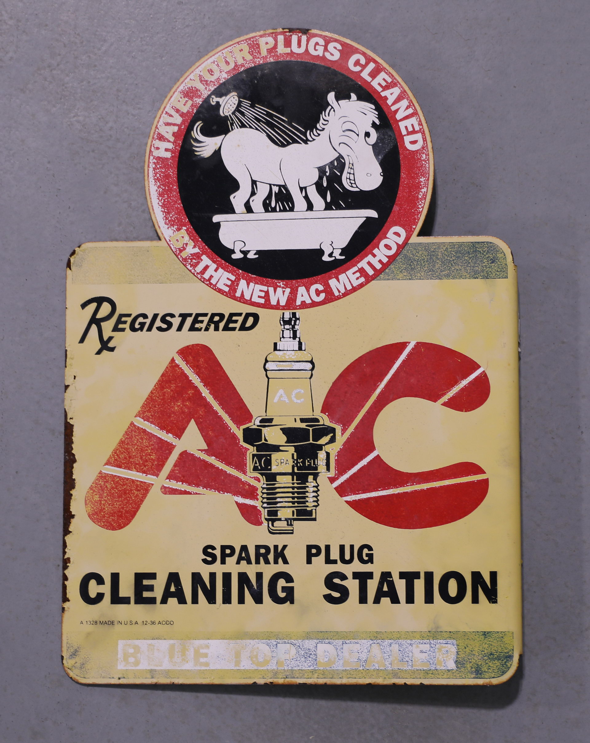 AC Spark Plugs Donkey DS Flange Sign