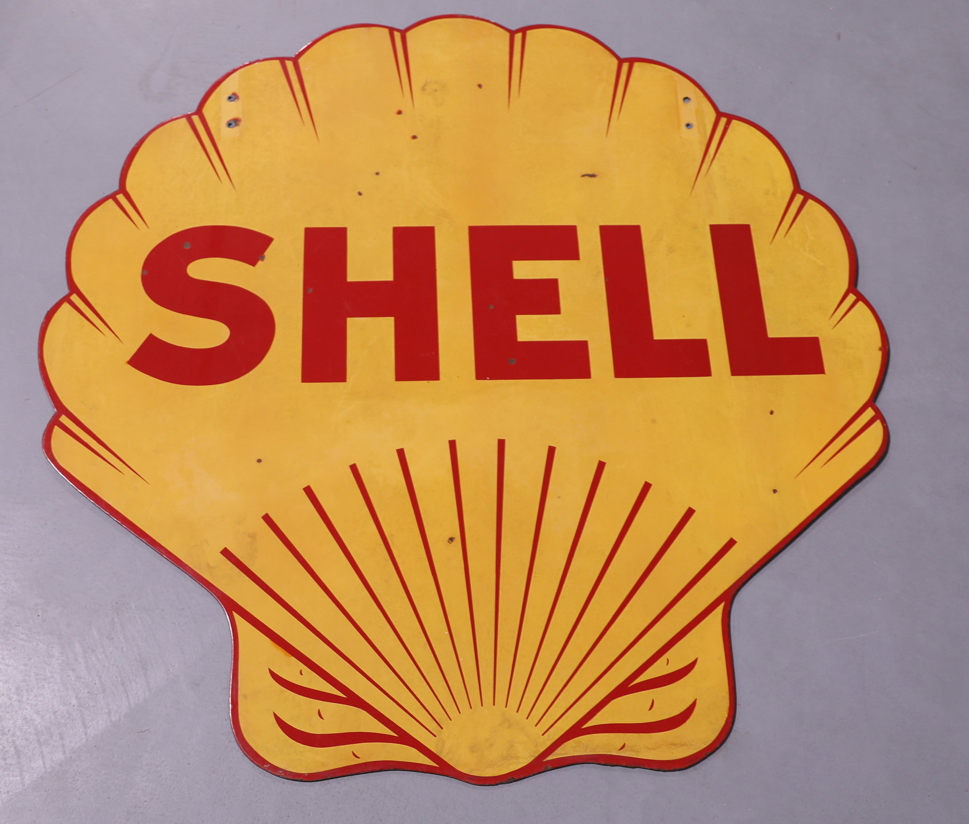 SHELL OIL DSP Porcelain Gas Station Sign