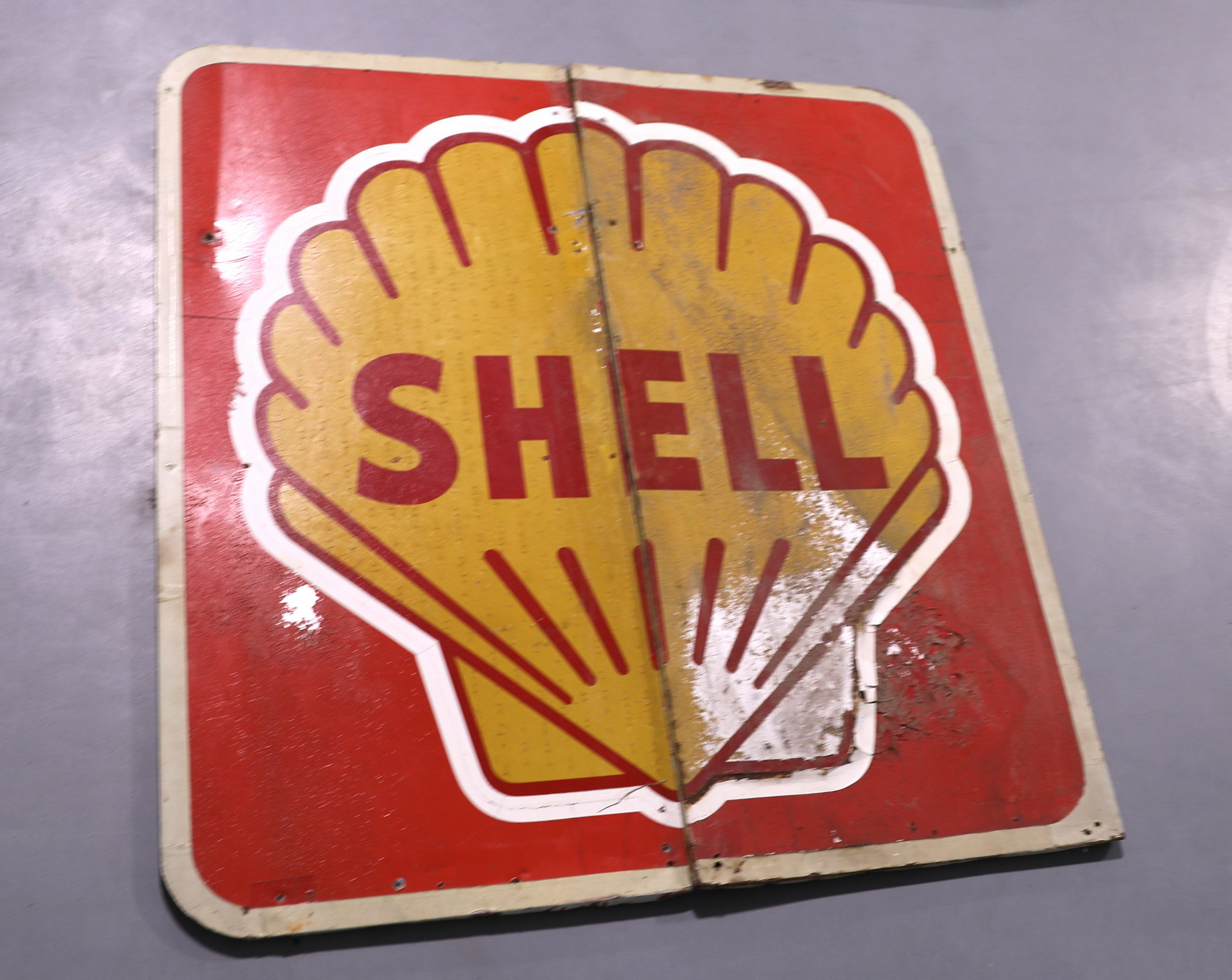 SHELL Oil 2 Panel Gas Station Sign