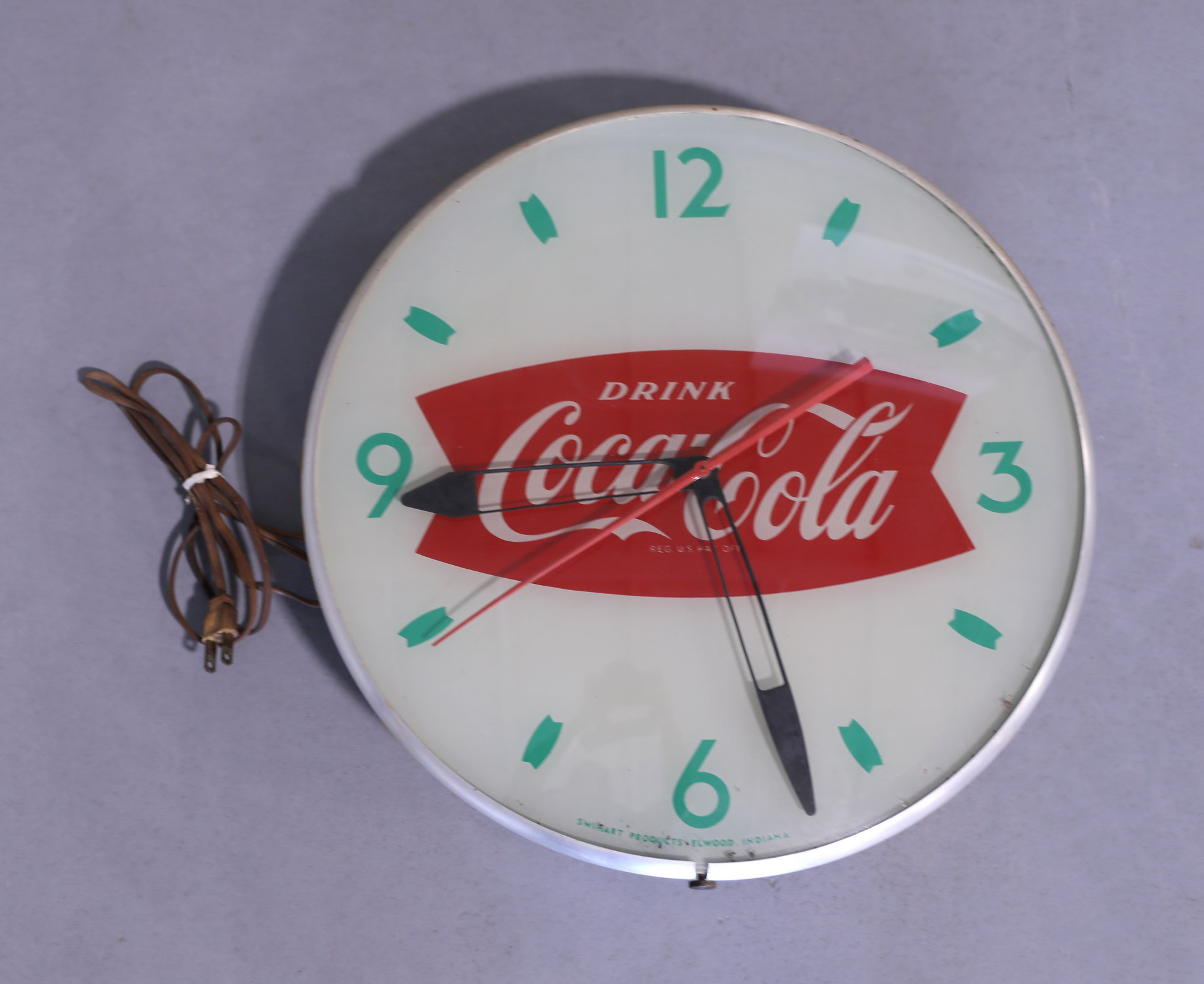 Drink Coca-Cola Fishtail Advertising Clock